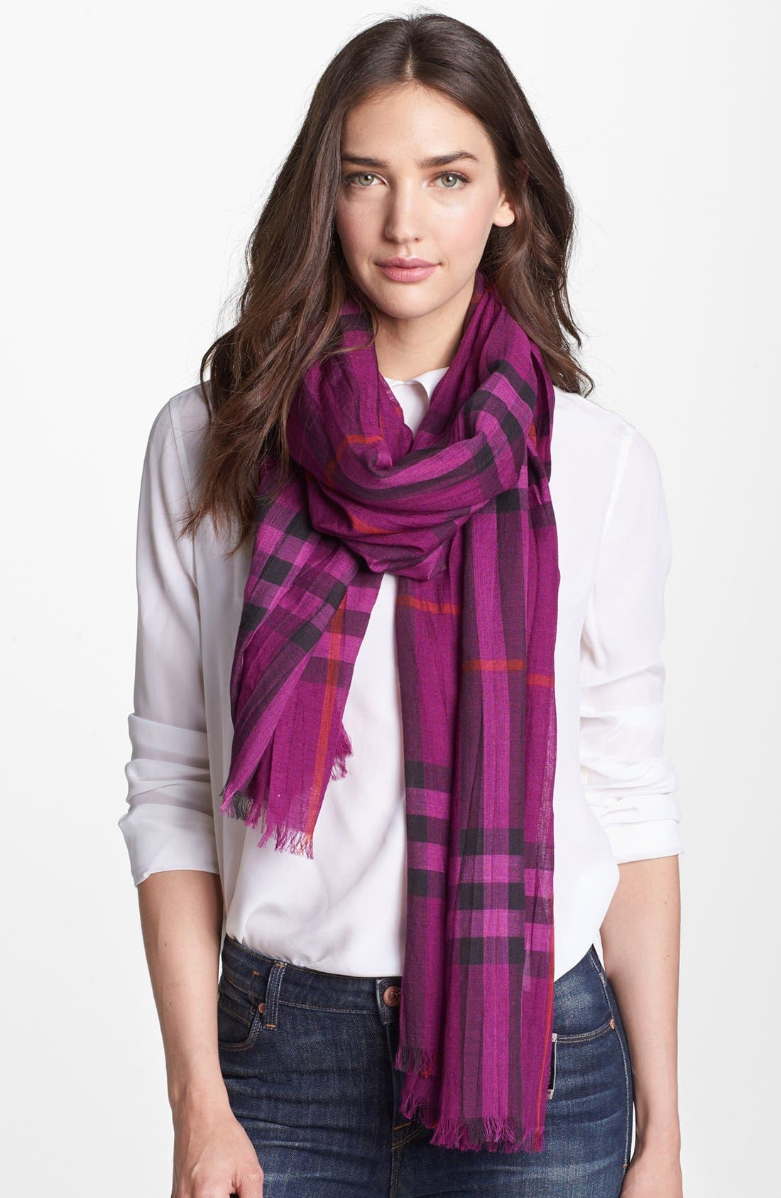 Alternate Image 1 Selected - Burberry Giant Check Print Scarf
