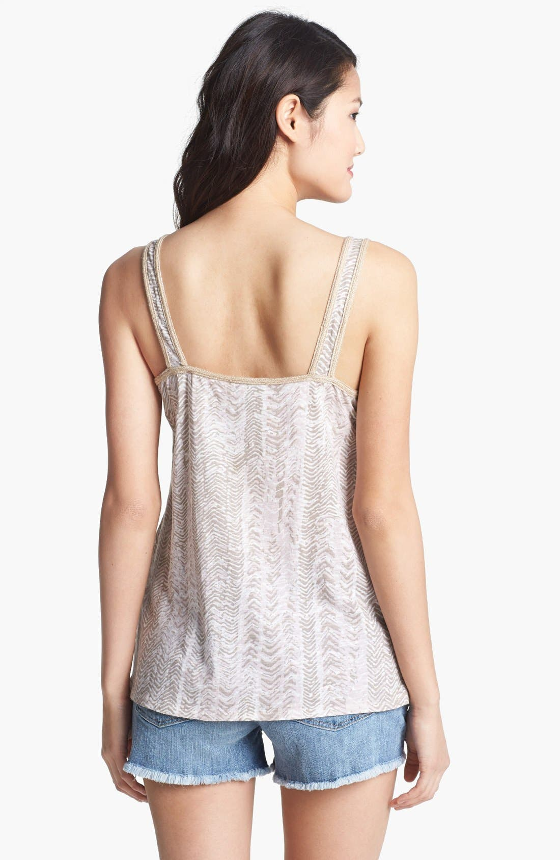 Alternate Image 2  - Lucky Brand 'Nalani' Beaded Print Tank