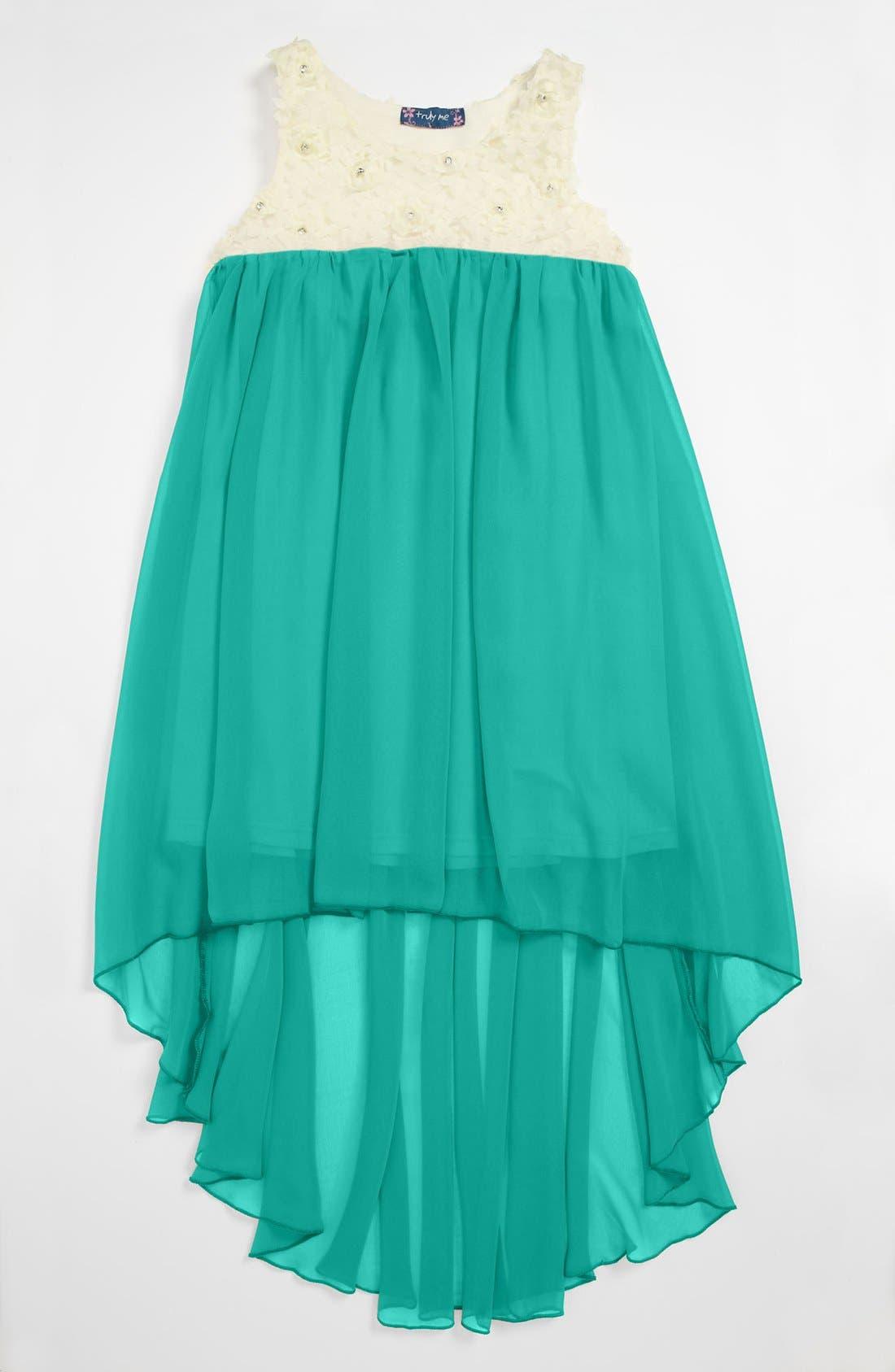 Main Image - Truly Me Chiffon Dress (Big Girls)