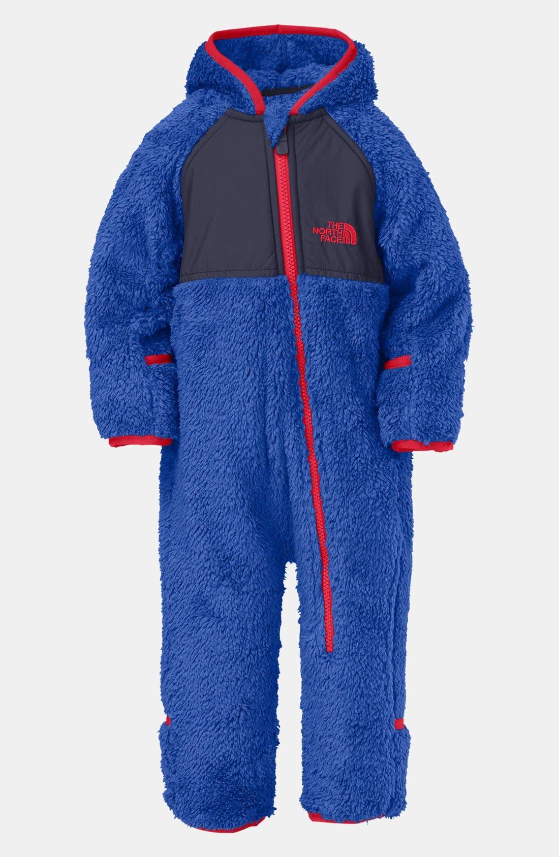 Main Image - The North Face Plush Fleece Bunting (Baby Boys)