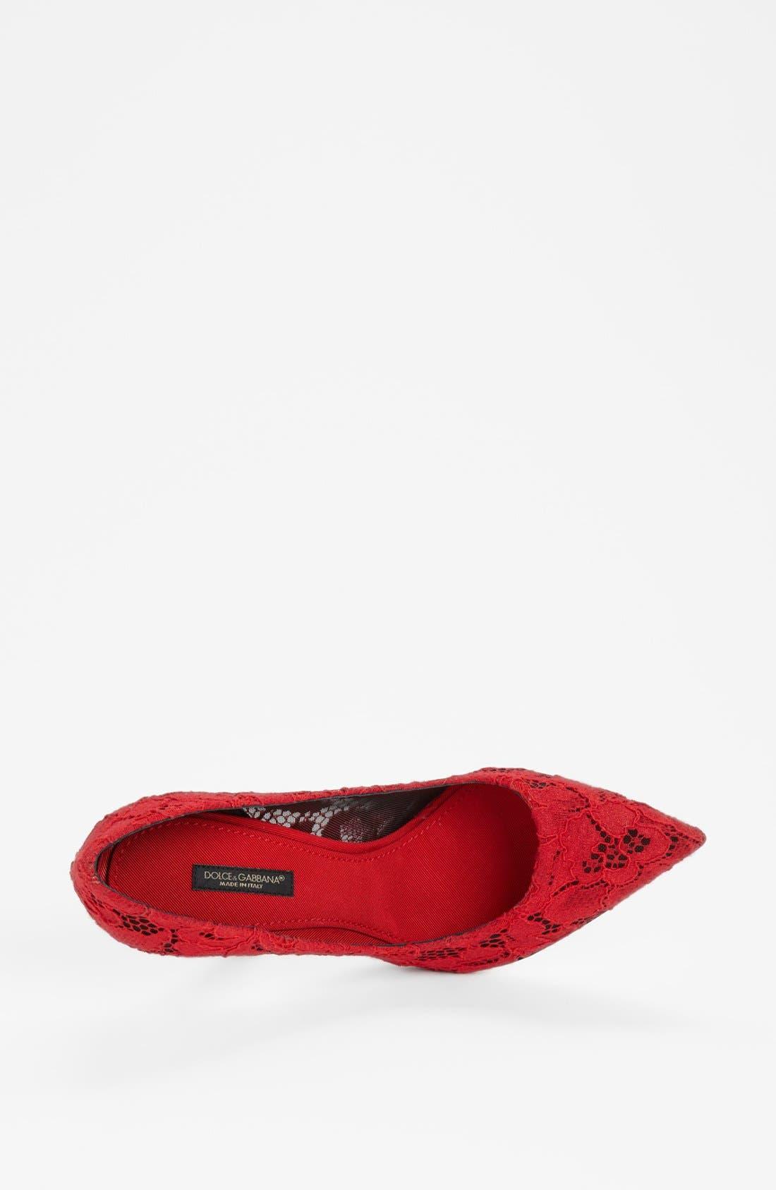 Alternate Image 3  - Dolce&Gabbana Lace Pointy Toe Pump