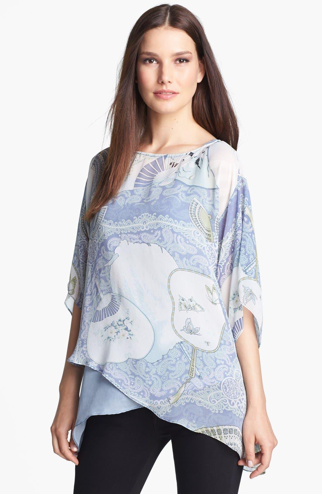 Main Image - Citron Layered Silk Tunic