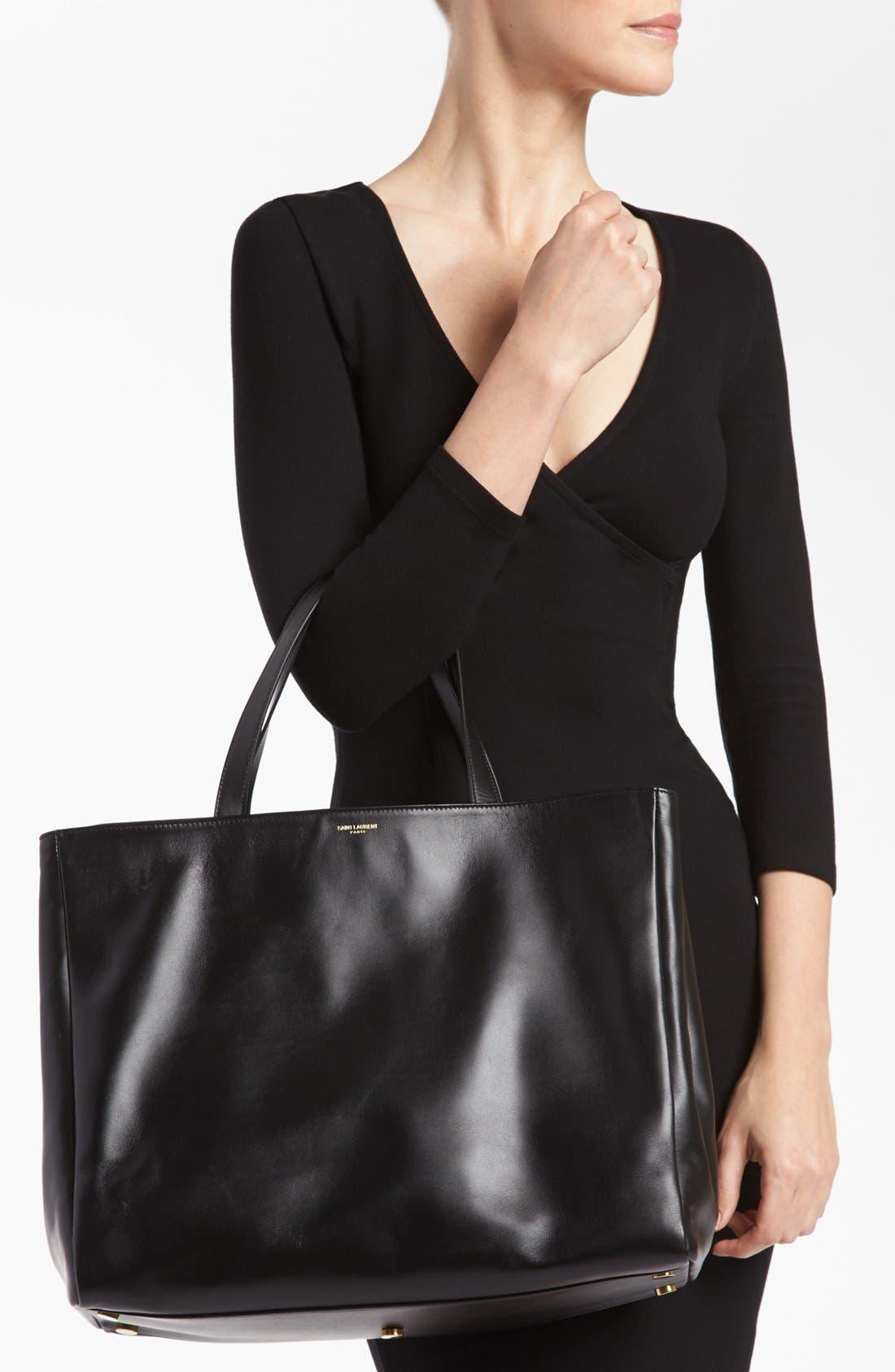 Alternate Image 2  - Saint Laurent Leather Tote, Large