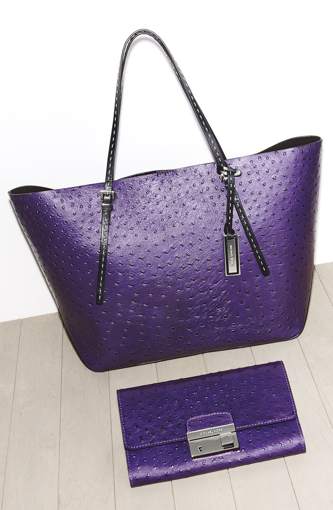 Alternate Image 5  - Michael Kors 'Gia' Ostrich Embossed Leather Clutch