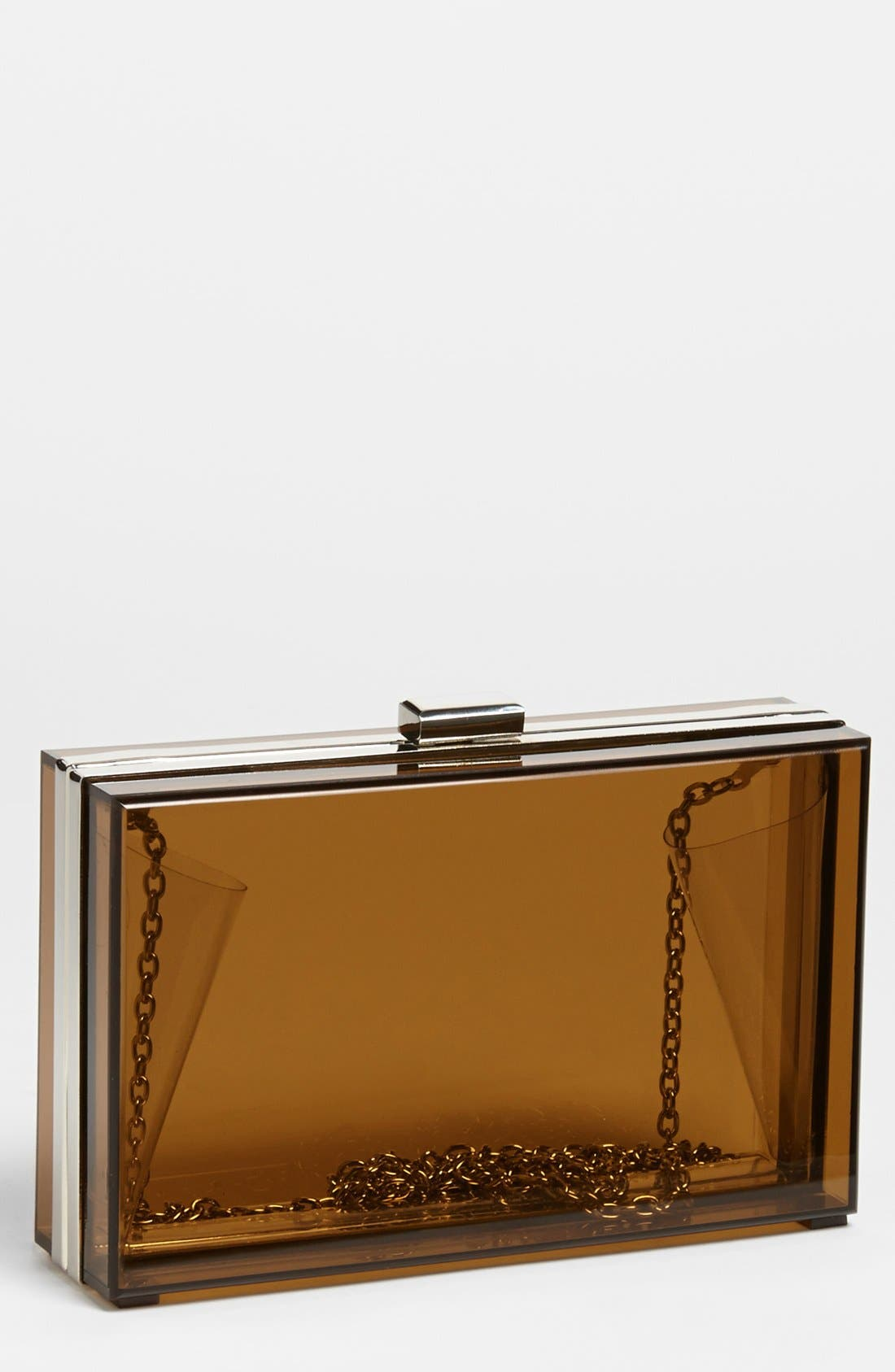 Main Image - Expressions NYC Clear Box Clutch