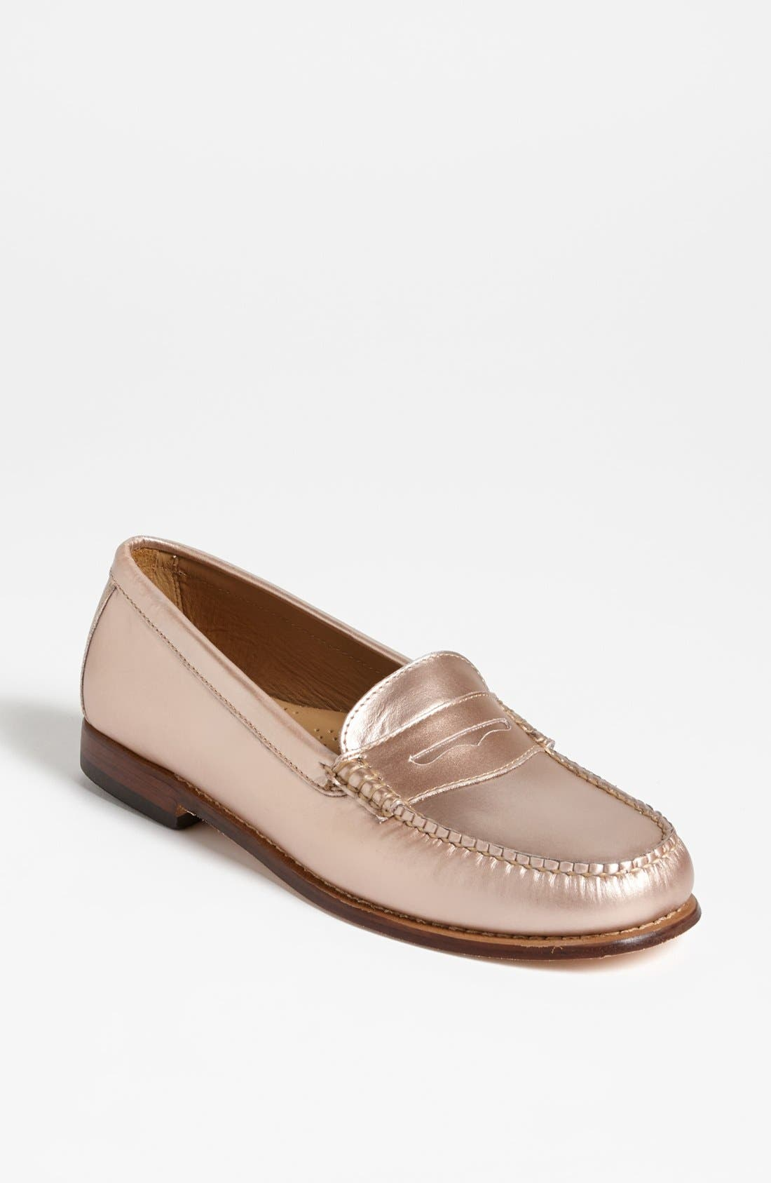 Alternate Image 1 Selected - G.H. Bass & Co. Metallic Leather Loafer Flat