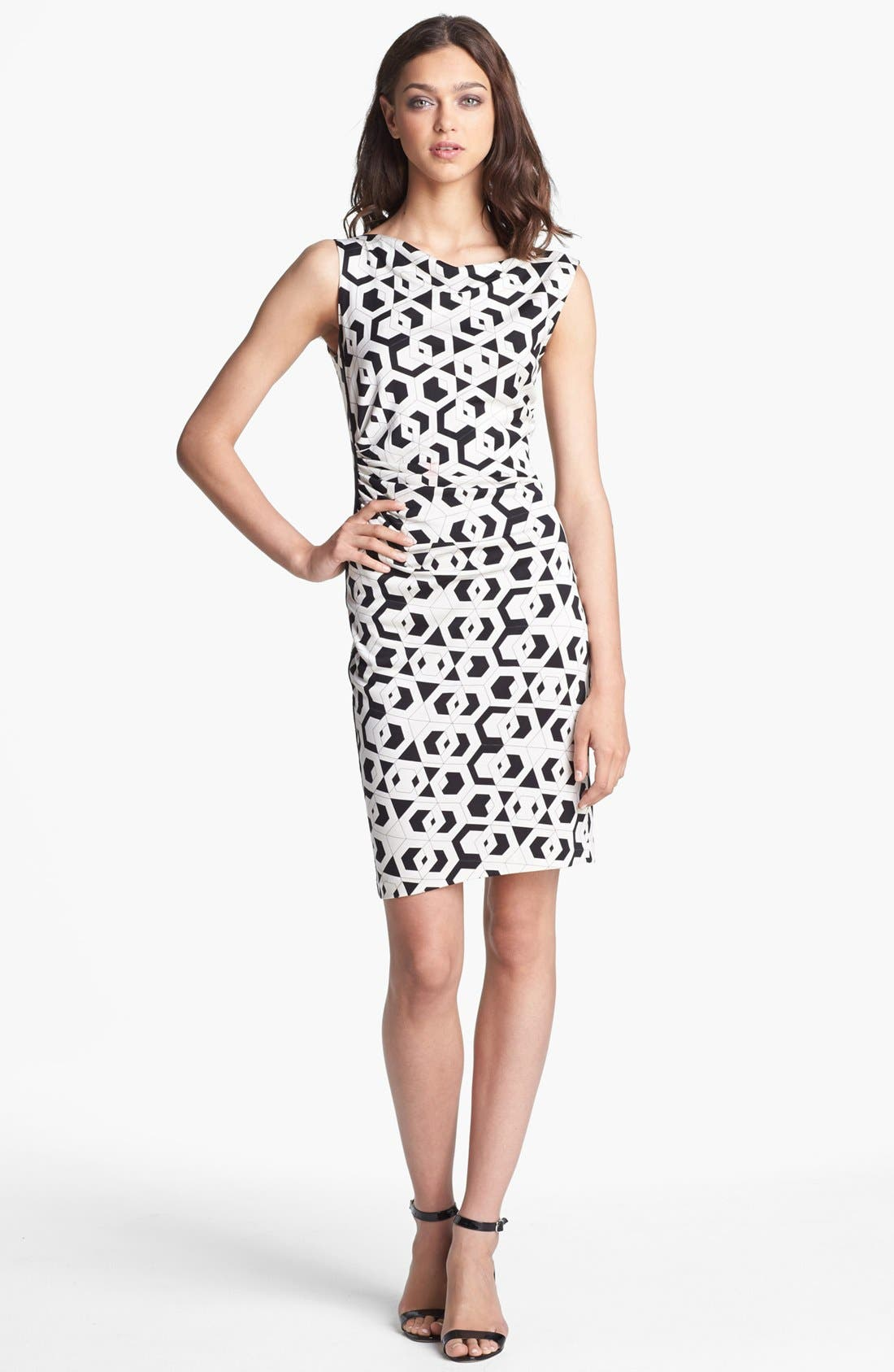 Main Image - Diane von Furstenberg 'Glasmary' Print Silk Sheath Dress