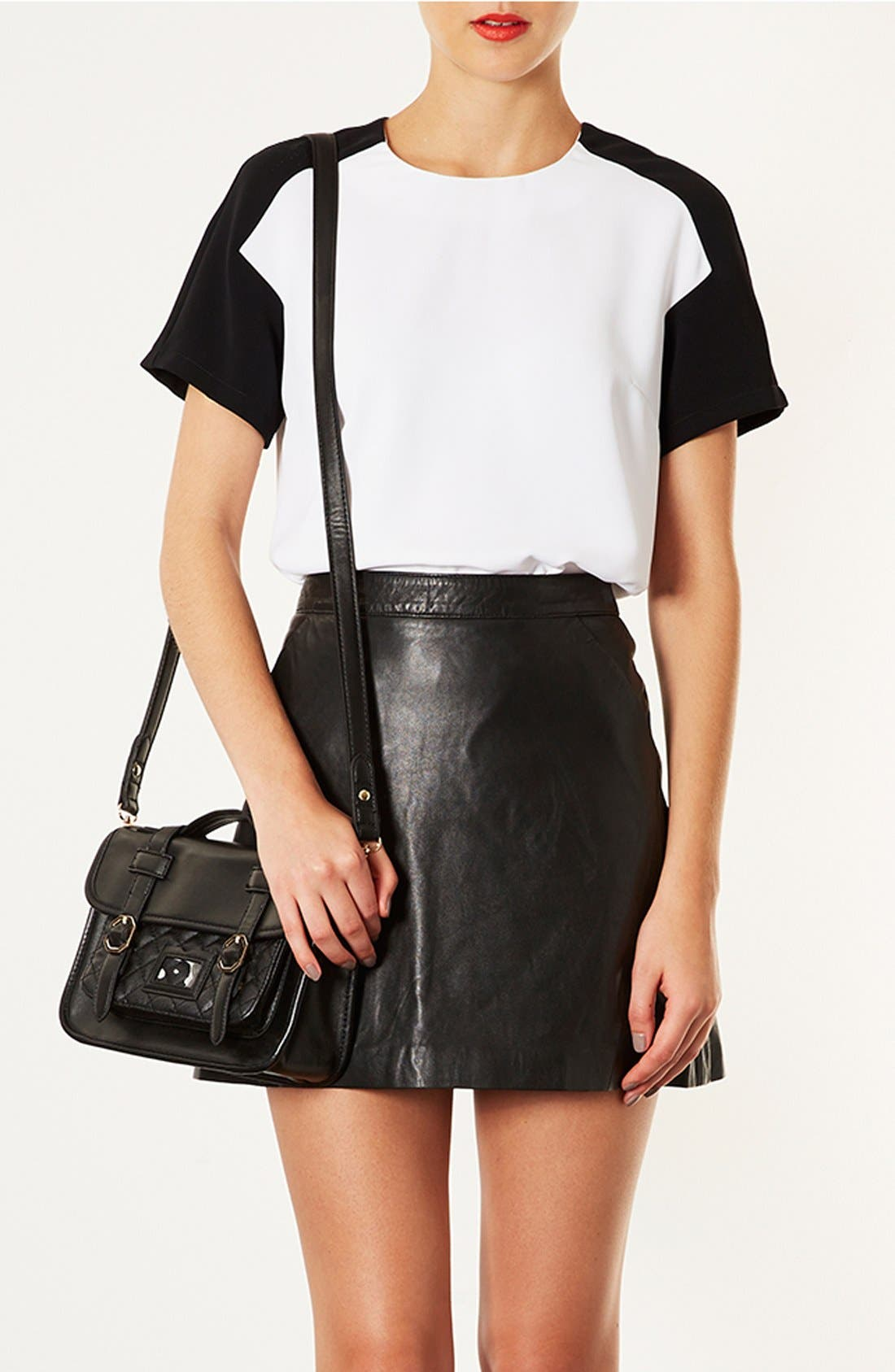 Alternate Image 2  - Topshop 'Mary' Quilted Satchel, Small