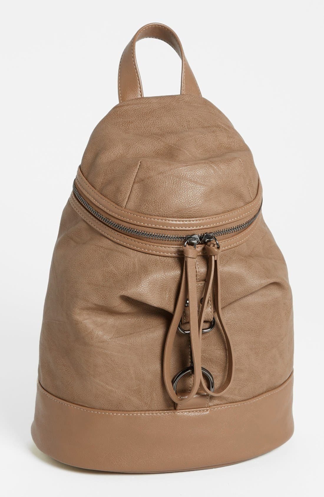 Alternate Image 1 Selected - POVERTY FLATS by rian Faux Leather Backpack