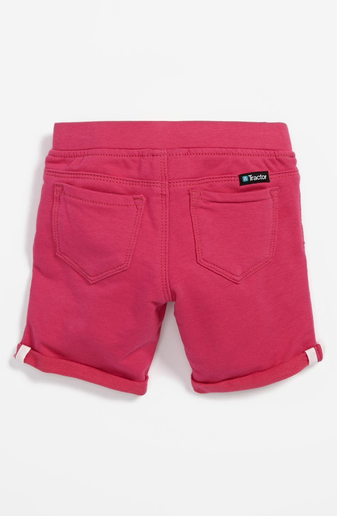 Main Image - Tractor Bermuda Shorts (Toddler Girls)