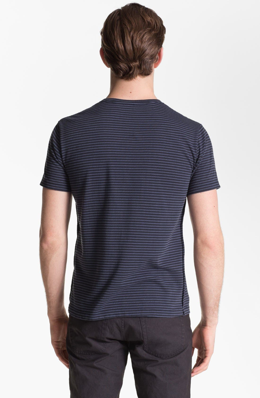 Alternate Image 2  - Steven Alan Stripe Print Pocket T-Shirt