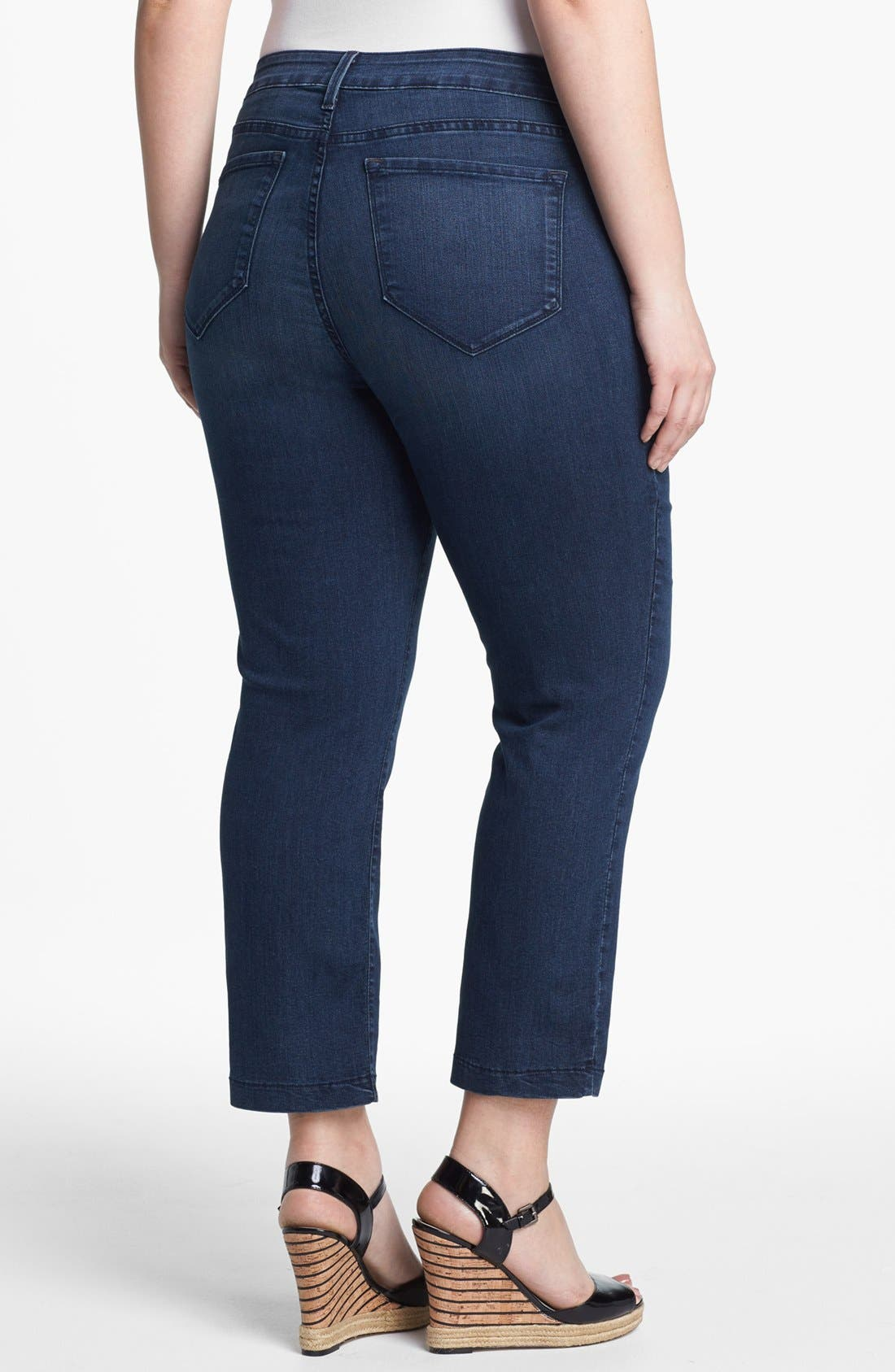 Alternate Image 2  - NYDJ 'Audrey' Stretch Ankle Skinny Jeans (New York) (Plus Size)