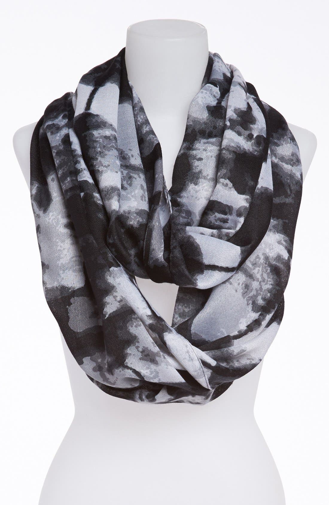 Main Image - David & Young Tie Dye Infinity Scarf