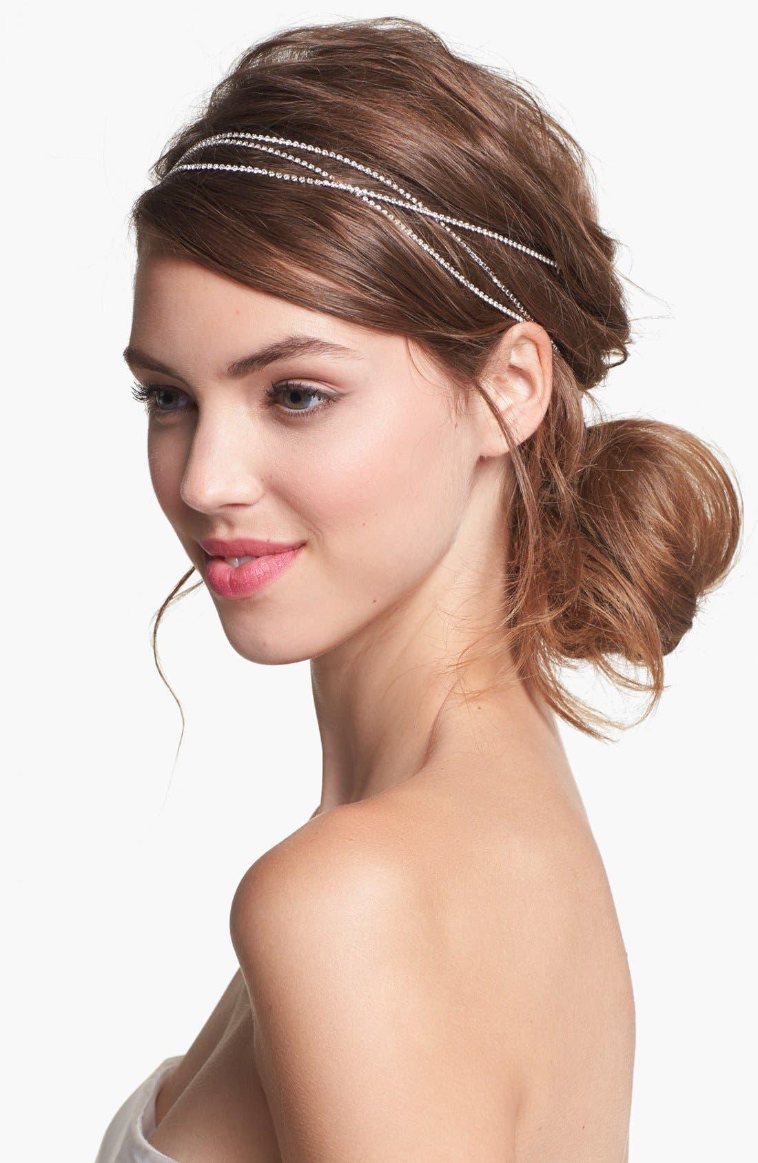 'Vera' Bohemian Head Wrap,                         Main,                         color, Silver