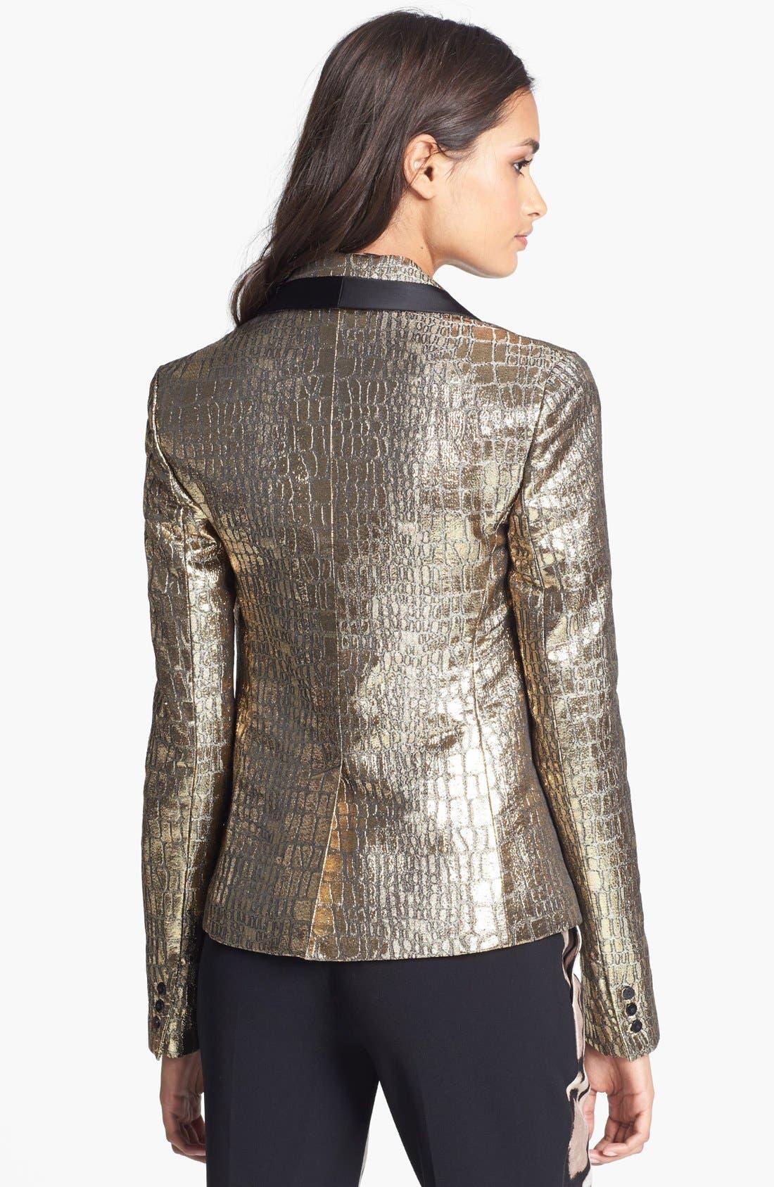 Alternate Image 2  - Diane von Furstenberg 'Ofelia' Metallic Blazer