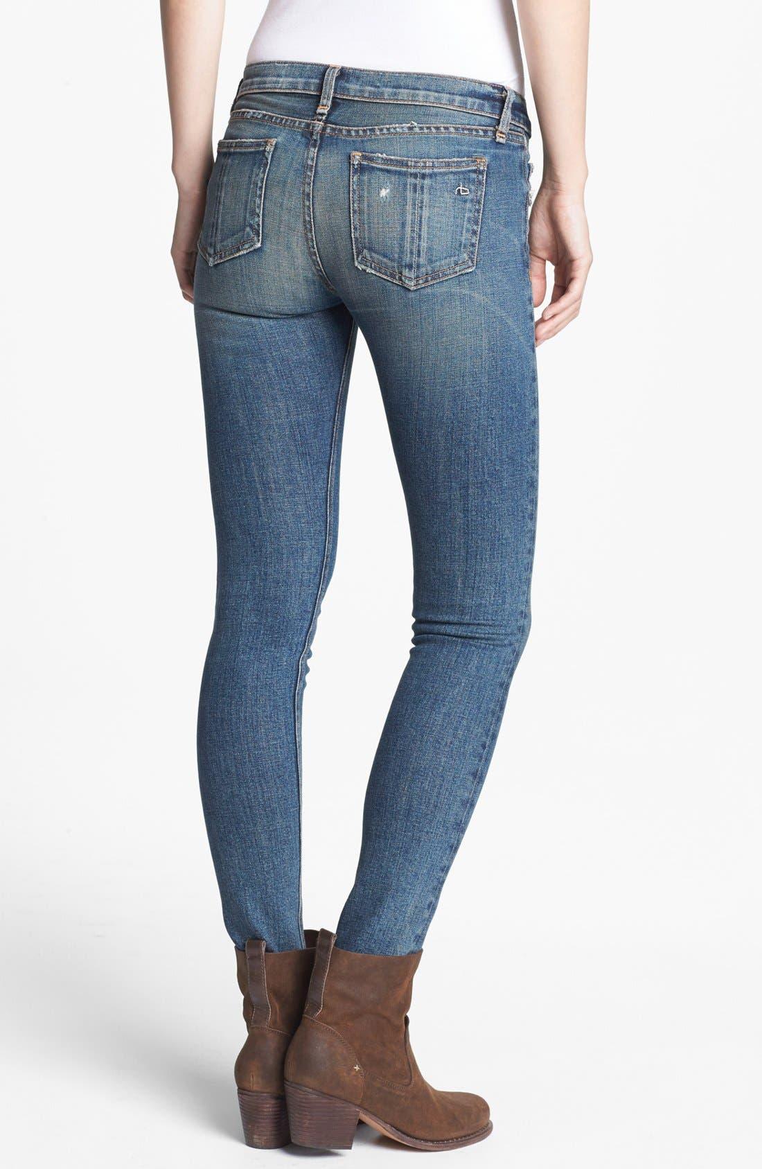 Alternate Image 4  - rag & bone/JEAN Skinny Stretch Jeans