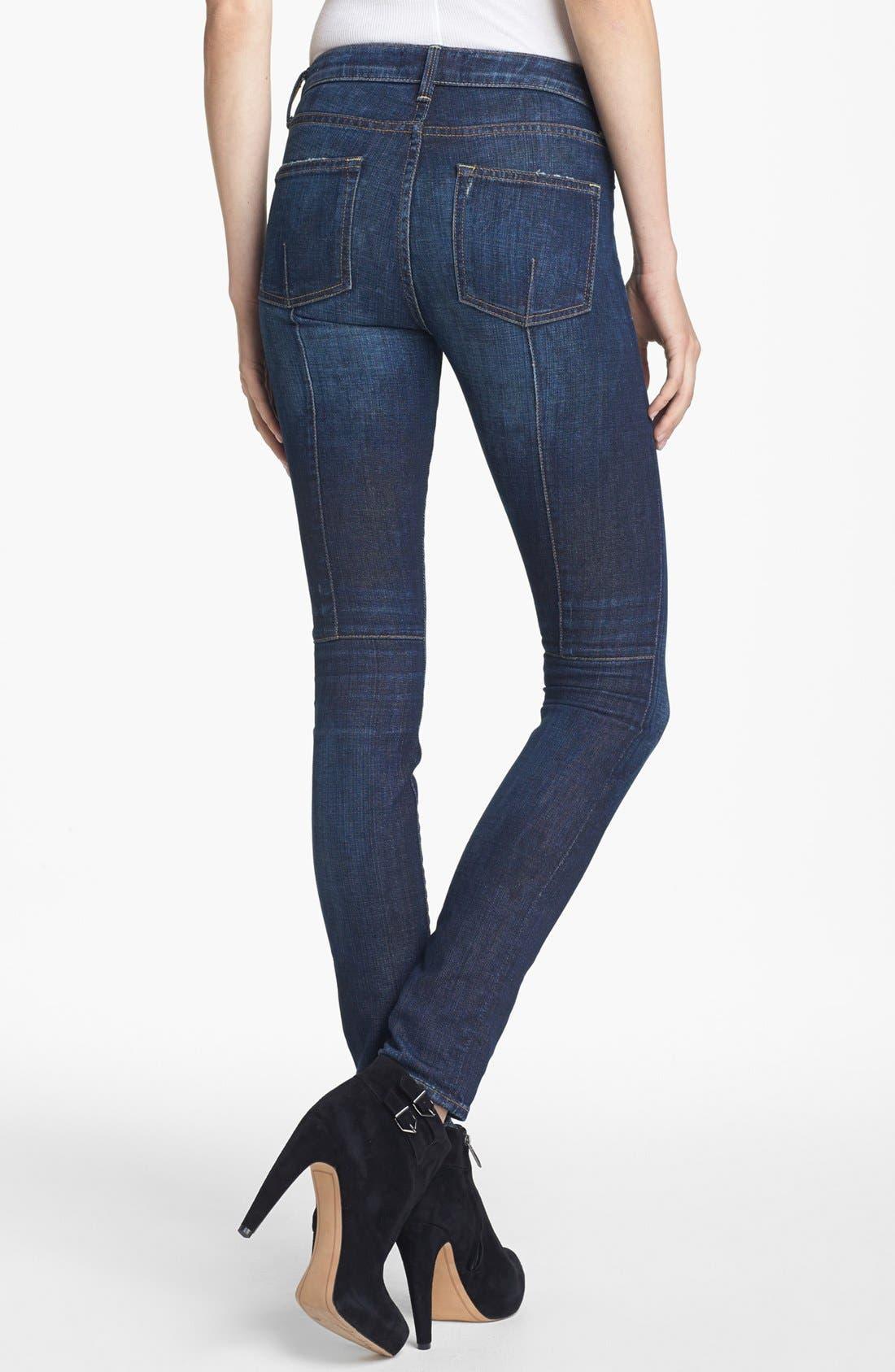 Alternate Image 2  - Vince Welt Pocket Skinny Stretch Jeans (Dirty Vintage)