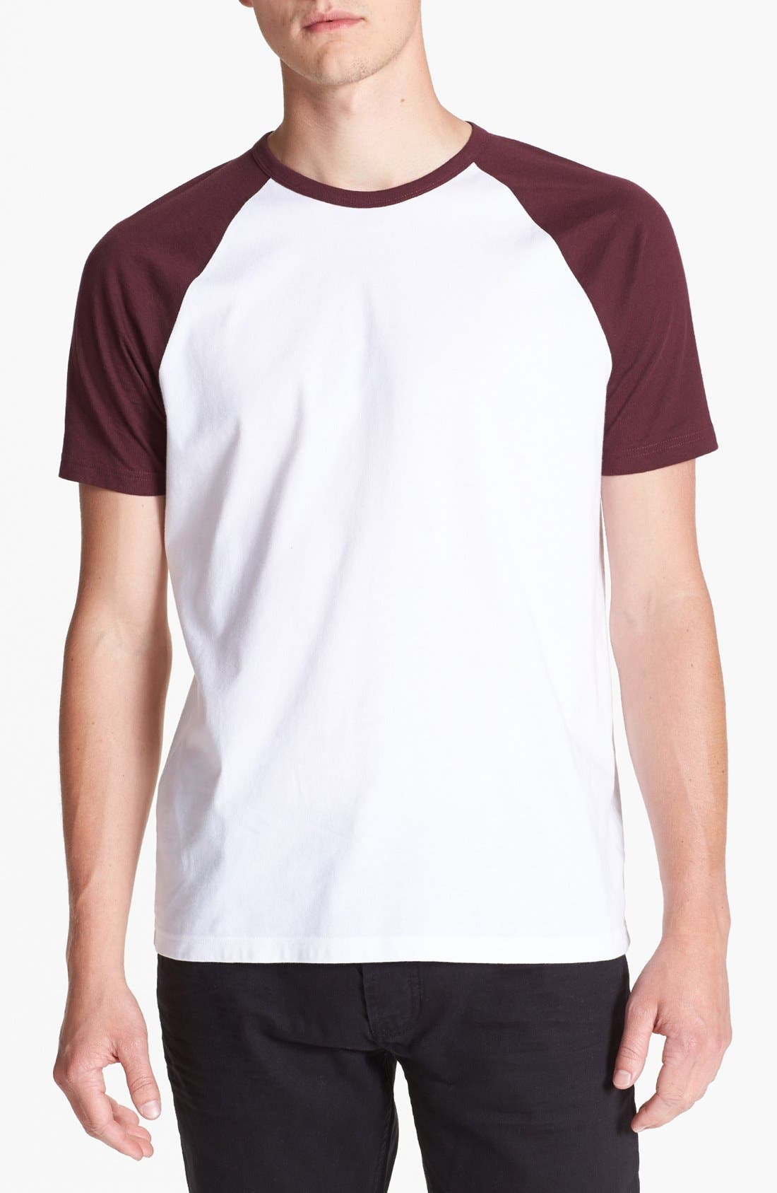 Alternate Image 1 Selected - Topman Short Sleeve Baseball T-Shirt