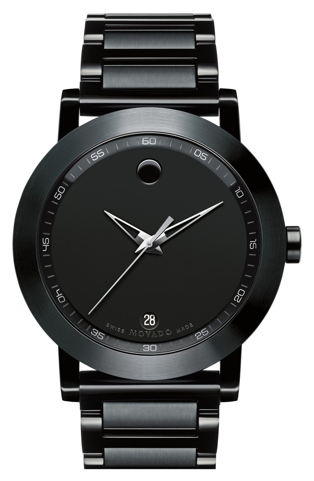 'Museum' Sport Watch, 42mm,                         Main,                         color, Black