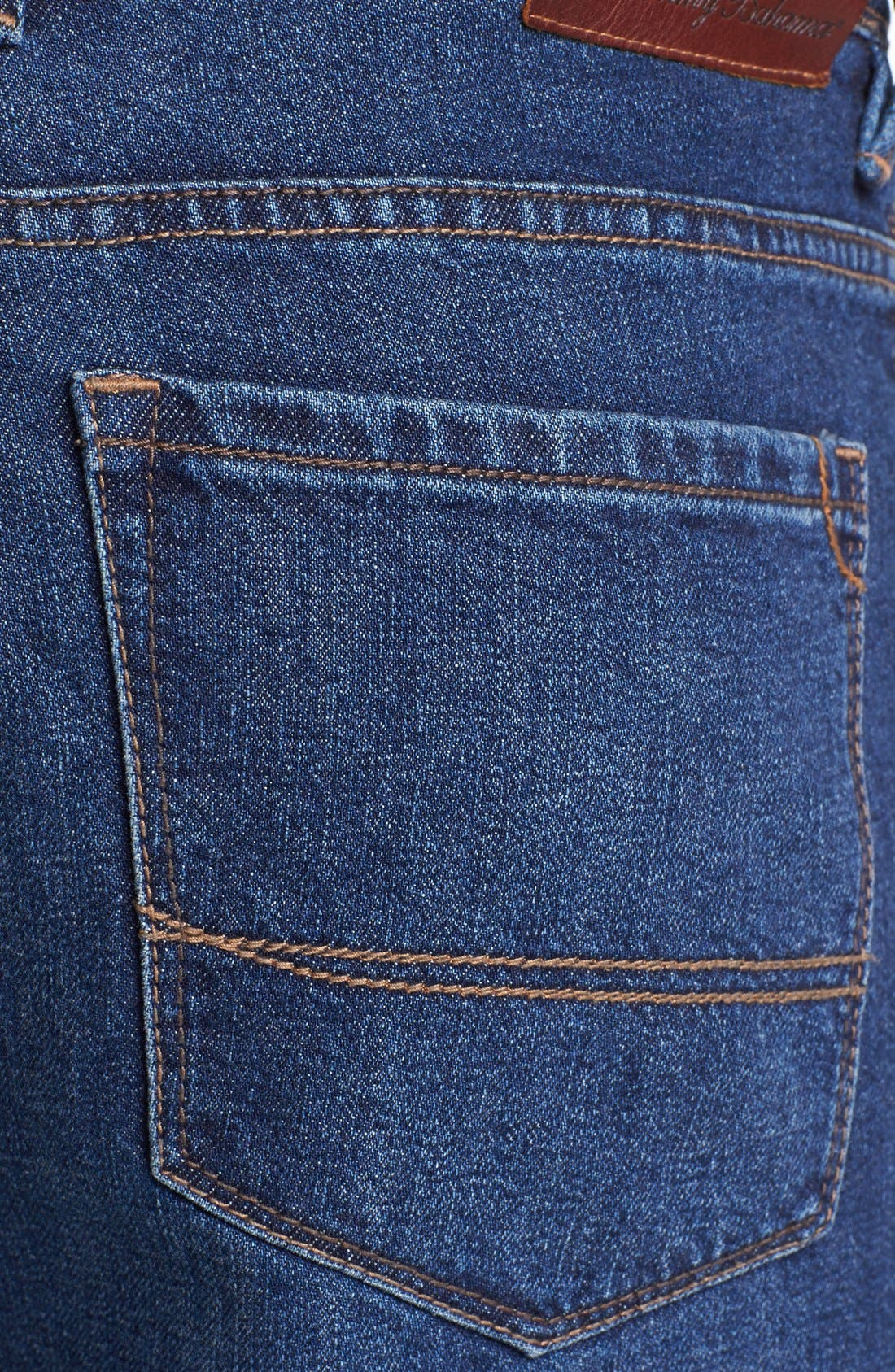 Alternate Image 4  - Tommy Bahama Denim 'Stevie' Standard Fit Jeans (Dark Wash)