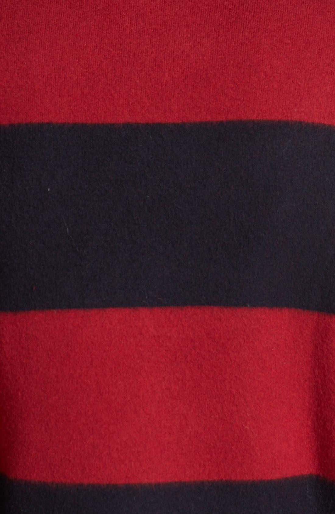 Alternate Image 3  - Burberry Prorsum Stripe Wool Blend Coat
