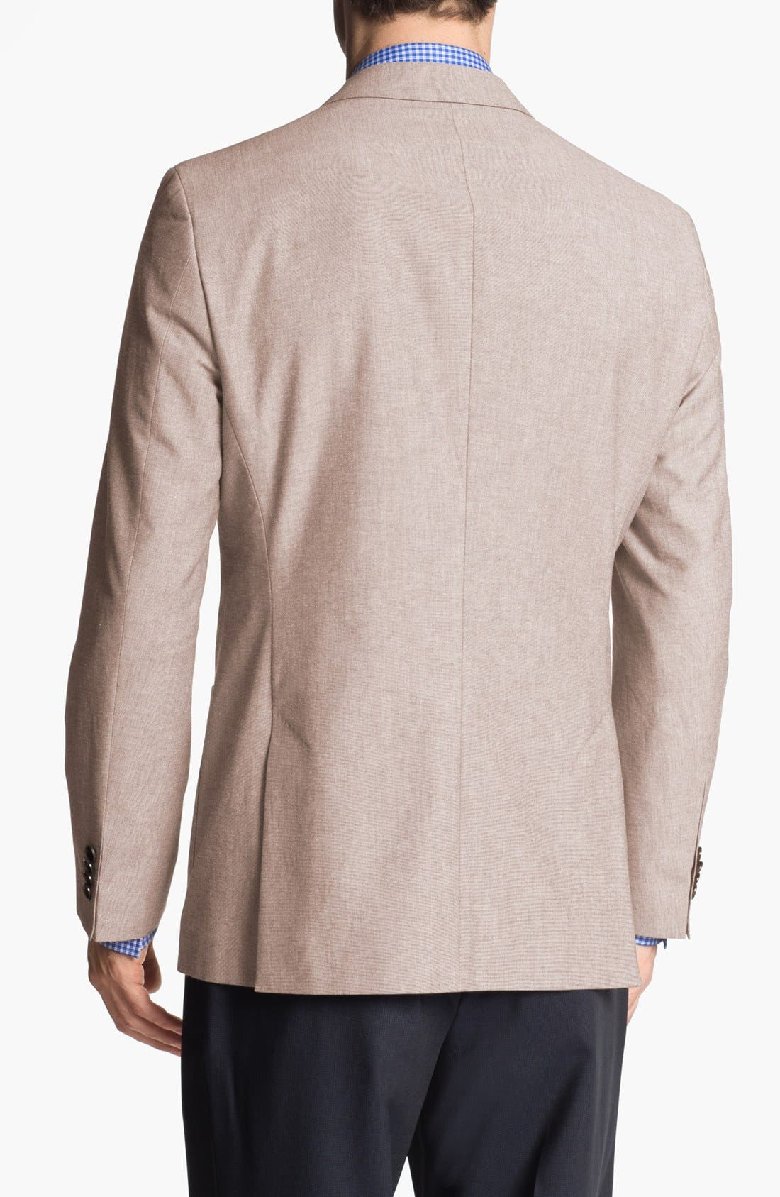 Alternate Image 3  - BOSS HUGO BOSS 'Jesse' Trim Fit Cotton Blazer