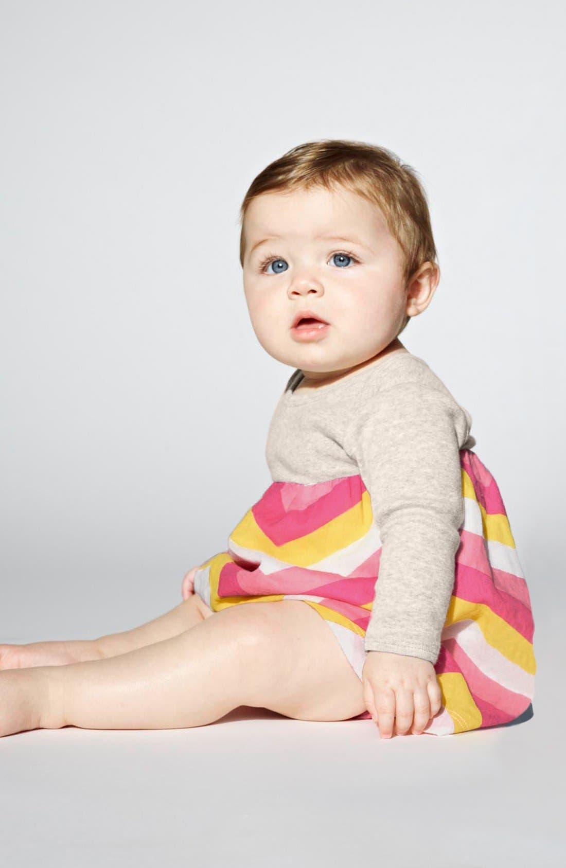 Main Image - Stem Baby Cardigan, Dress & Bloomers (Baby Girls)