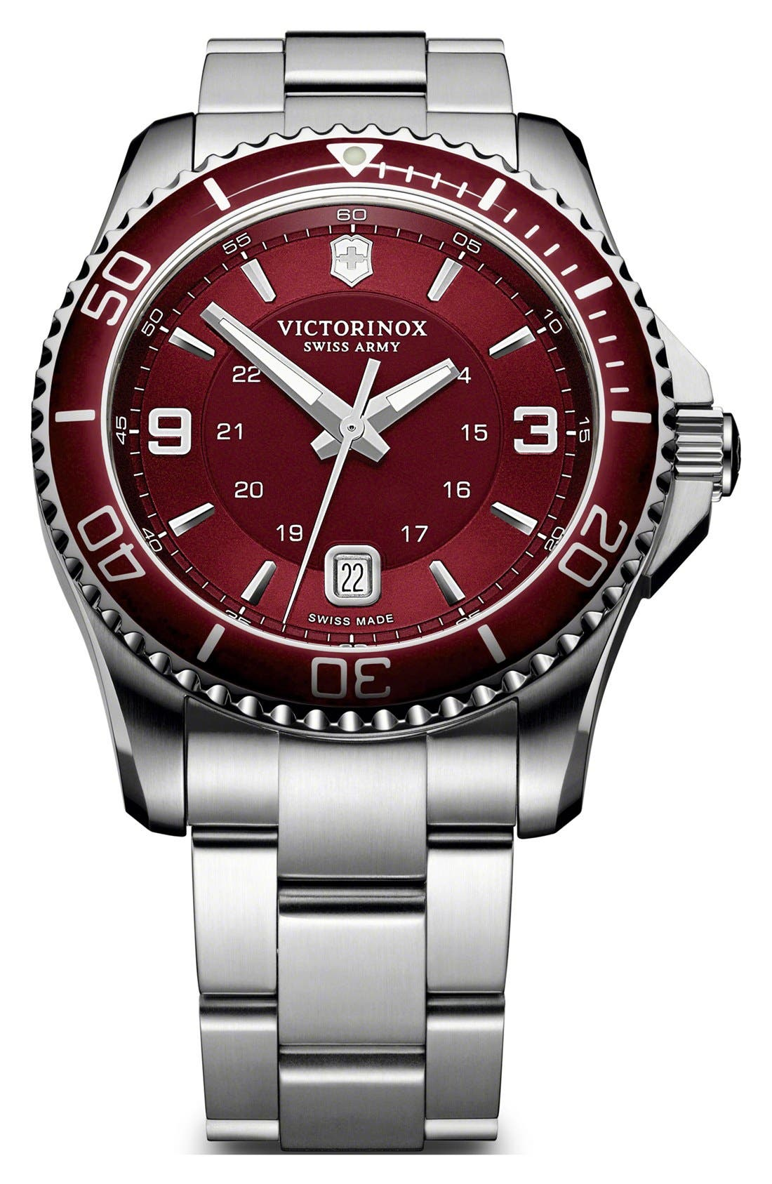 Alternate Image 1 Selected - Victorinox Swiss Army® 'Maverick GS' Two Tone Watch, 43mm
