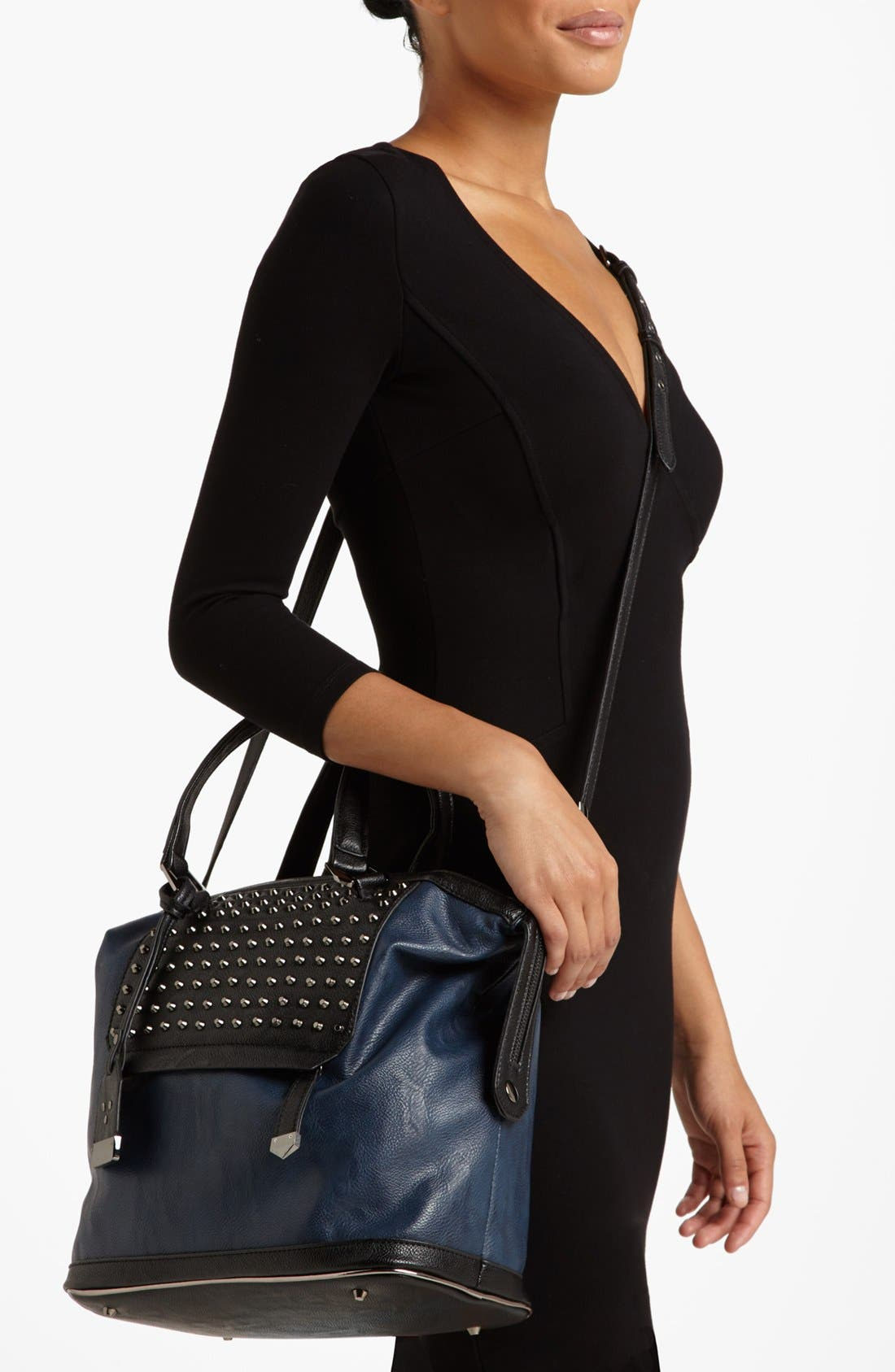 Alternate Image 2  - POVERTY FLATS by rian Studded Satchel, Large