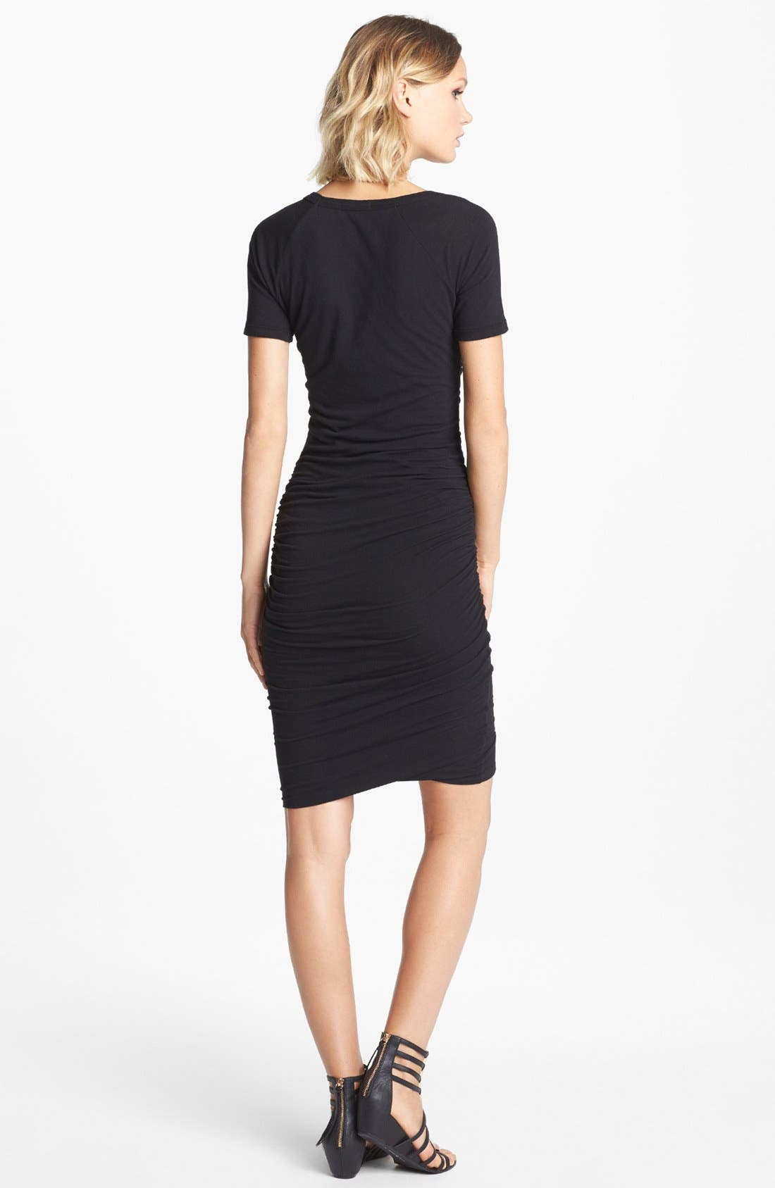 Alternate Image 2  - James Perse Ruched Raglan Sleeve Dress