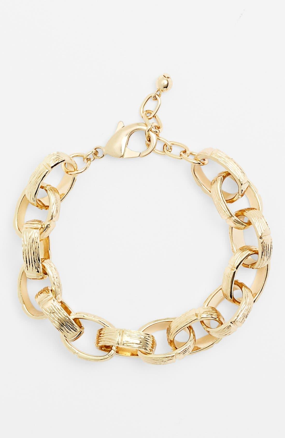 Alternate Image 1 Selected - Nordstrom Large Textured Link Bracelet