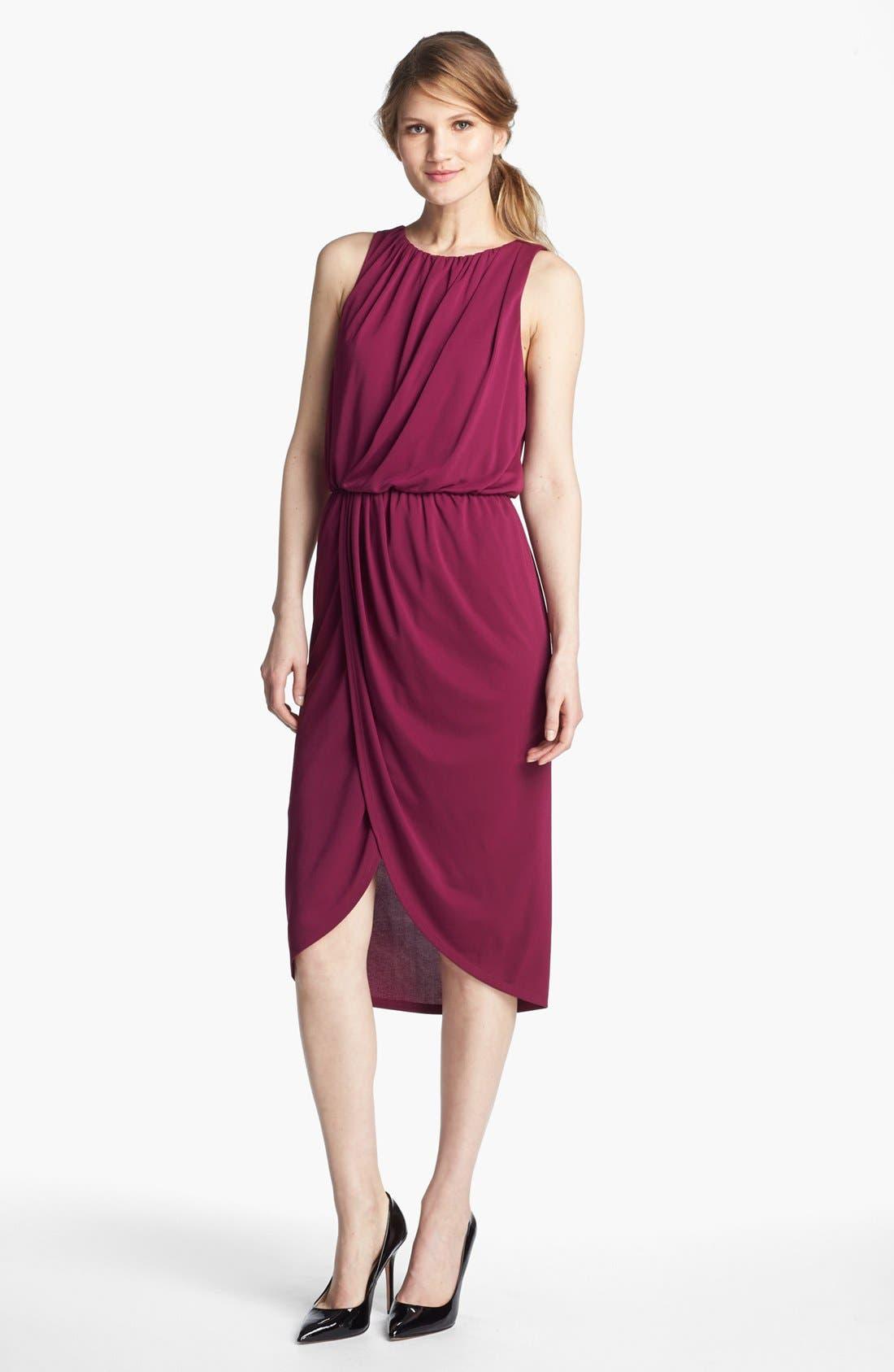 Main Image - Adrianna Papell Sleeveless Faux Wrap Dress