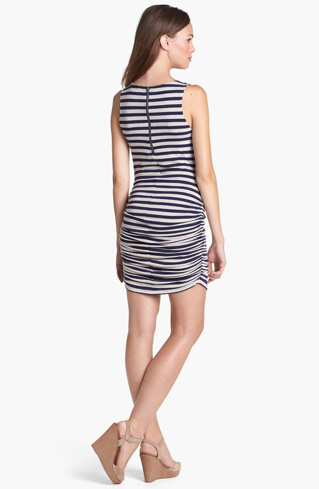Alternate Image 2  - Olivia Moon Ruched Knit Tank Dress