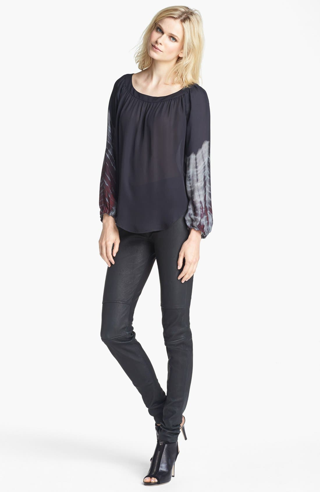Alternate Image 2  - L'AGENCE Shirred Silk Blouse