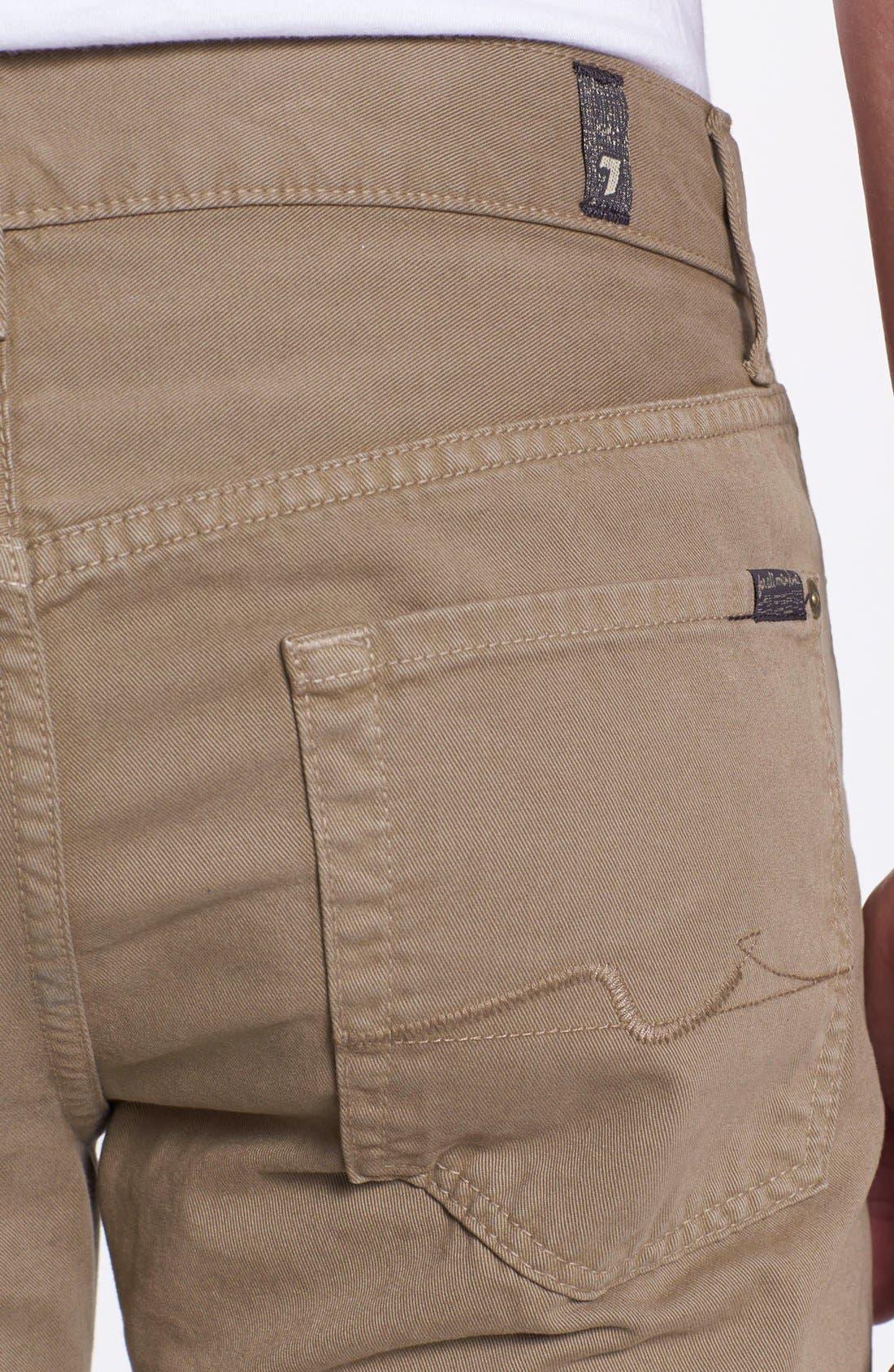 Alternate Image 3  - 7 For All Mankind® 'Slimmy' Slim Fit Jeans (Dark Khaki)