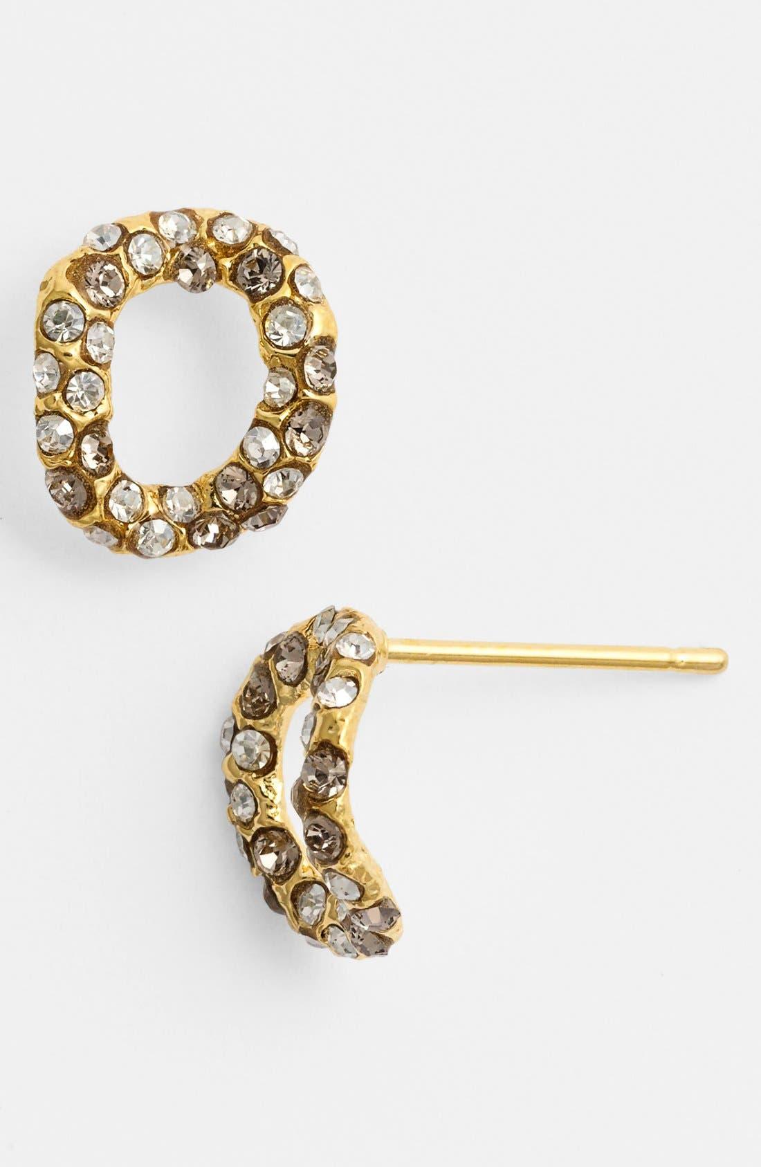 Alternate Image 1 Selected - Alexis Bittar 'Elements - Jardin de Papillon' Chain Link Stud Earrings