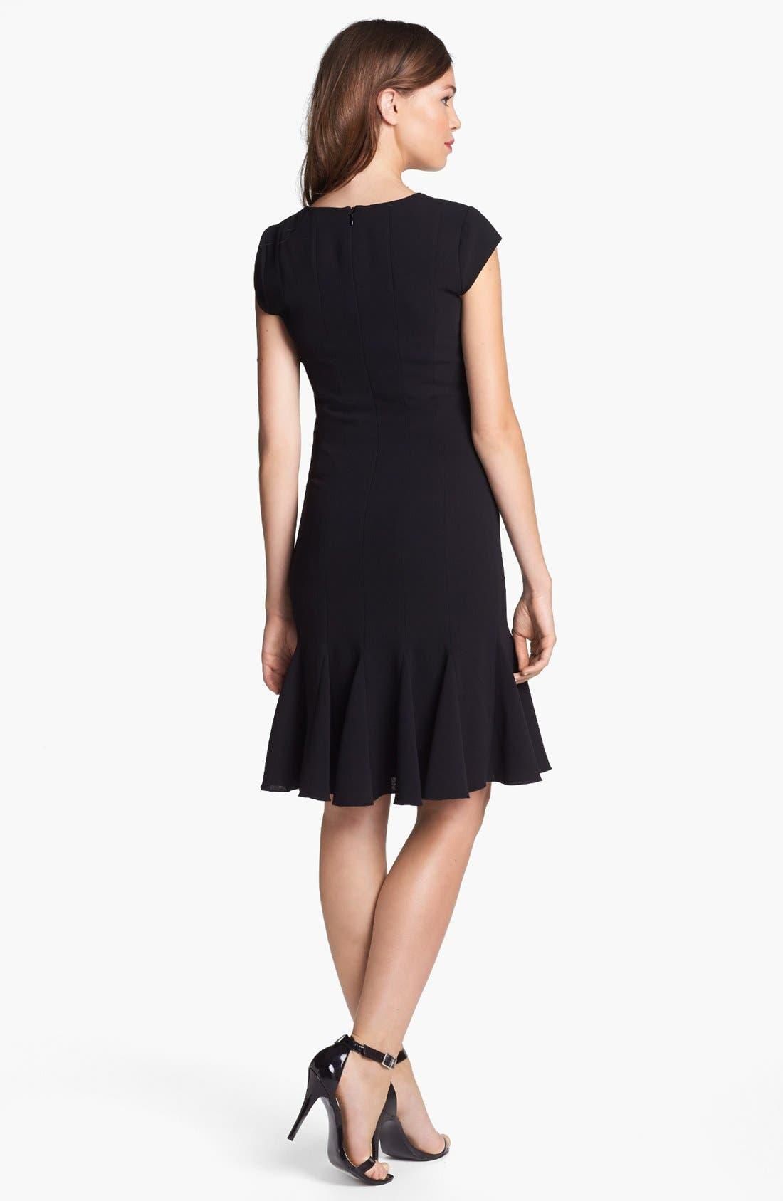 Alternate Image 2  - BCBGMAXAZRIA Cap Sleeve Fit & Flare Dress