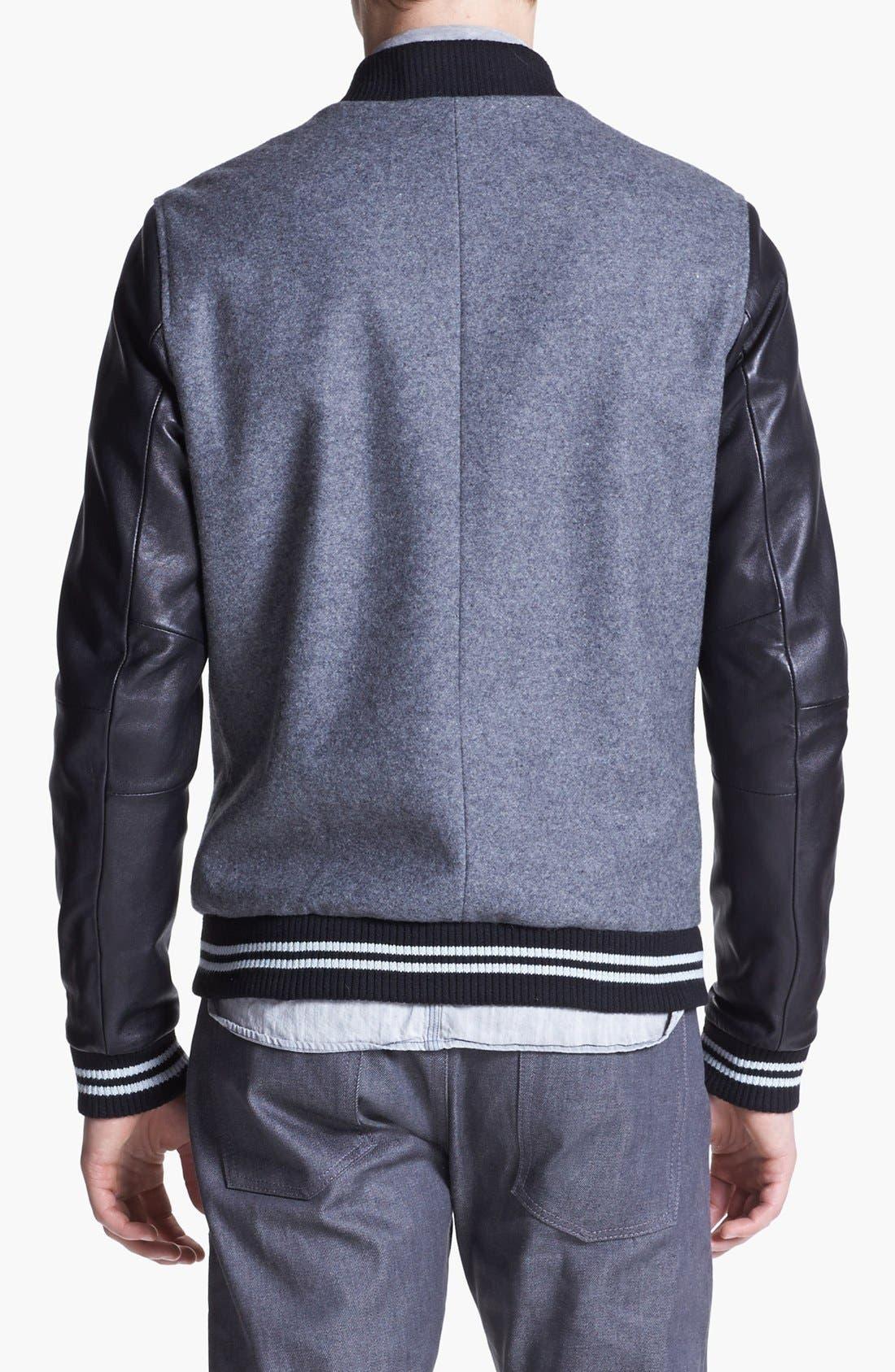 Alternate Image 2  - 7 Diamonds 'Novara' Wool & Leather Varsity Jacket