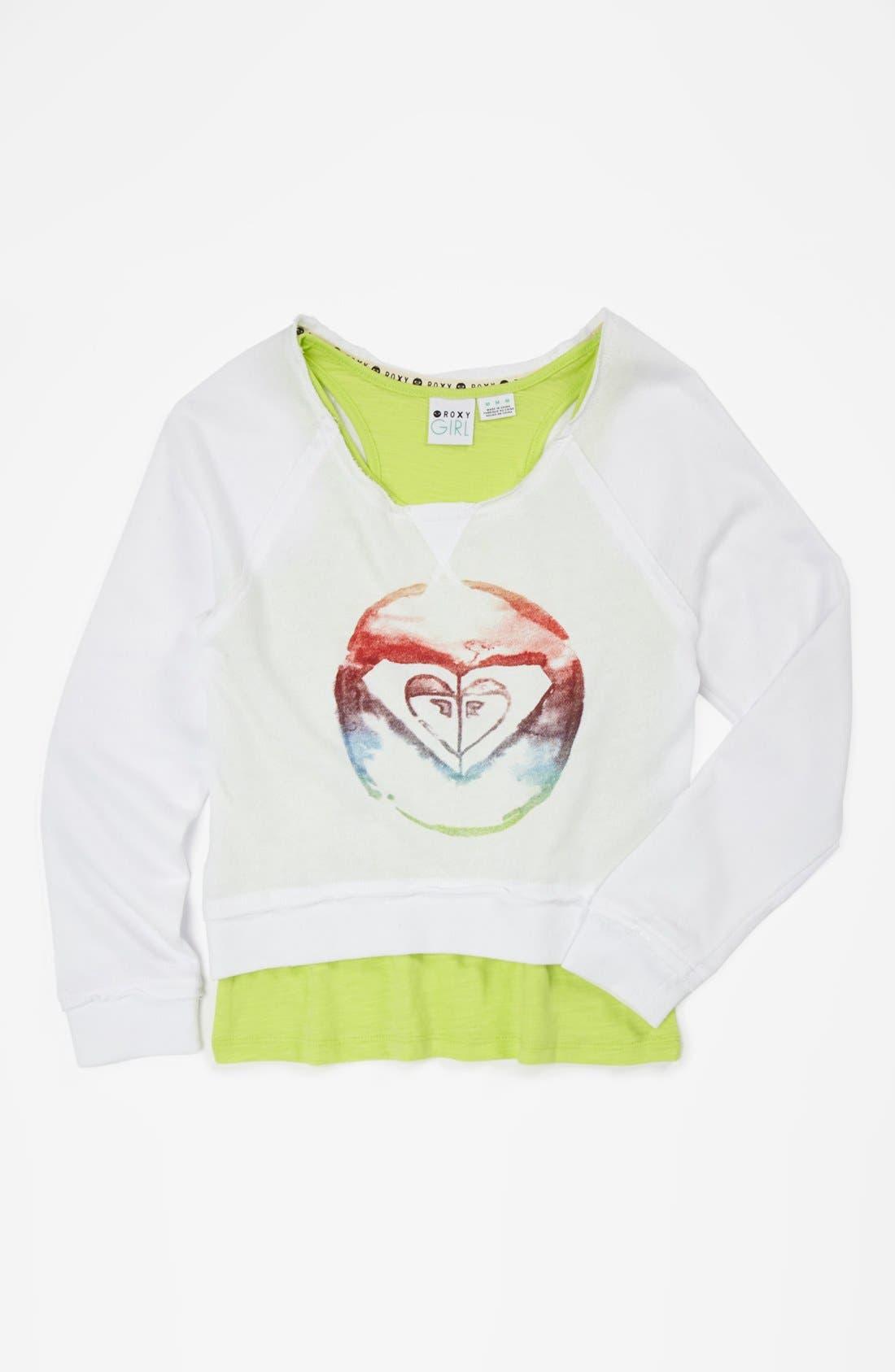 Alternate Image 1 Selected - Tank Top & Crop Sweatshirt (Big Girls)