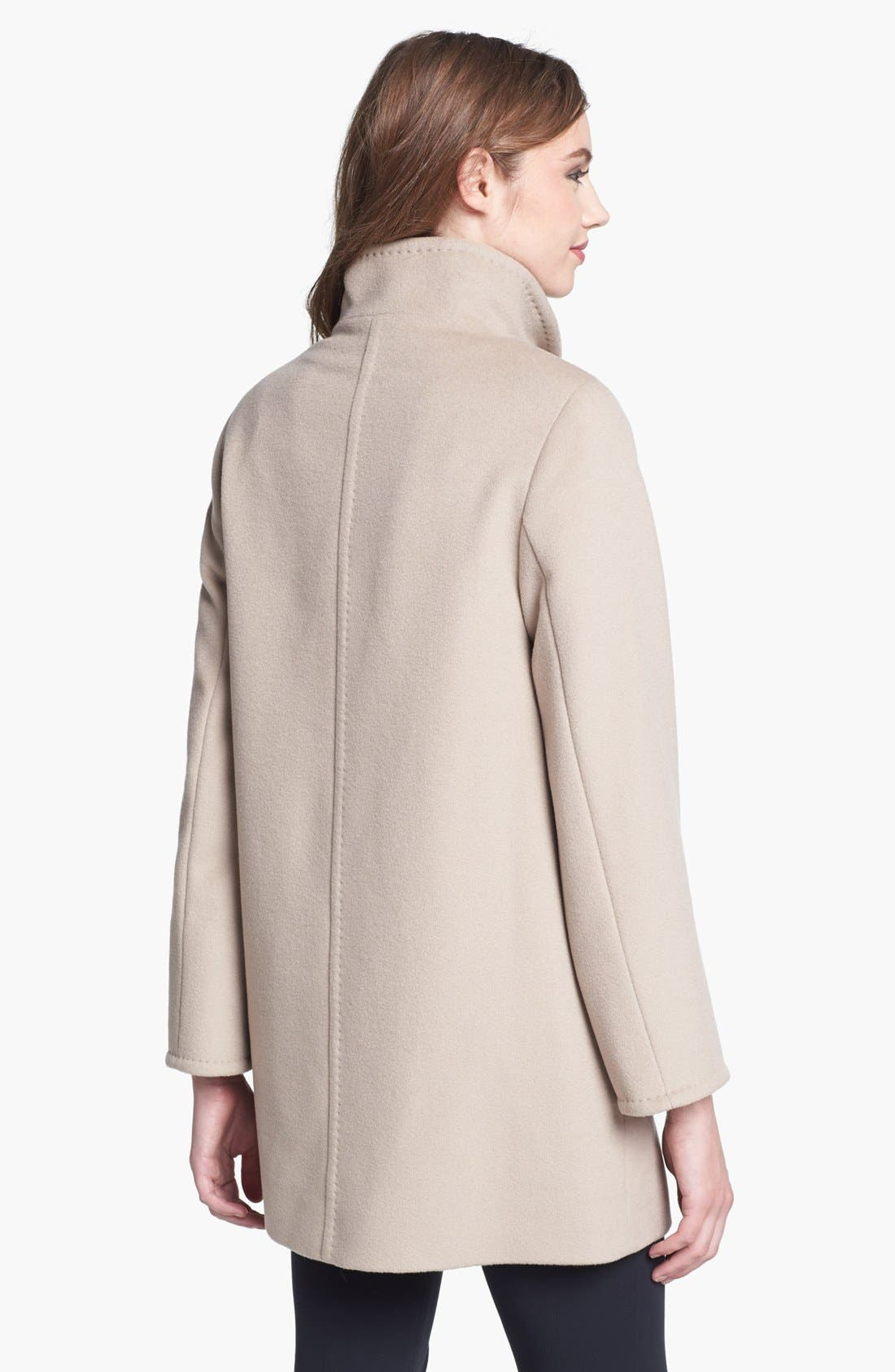 Alternate Image 2  - Cinzia Rocca Due Convertible Collar Wool Coat (Petite)