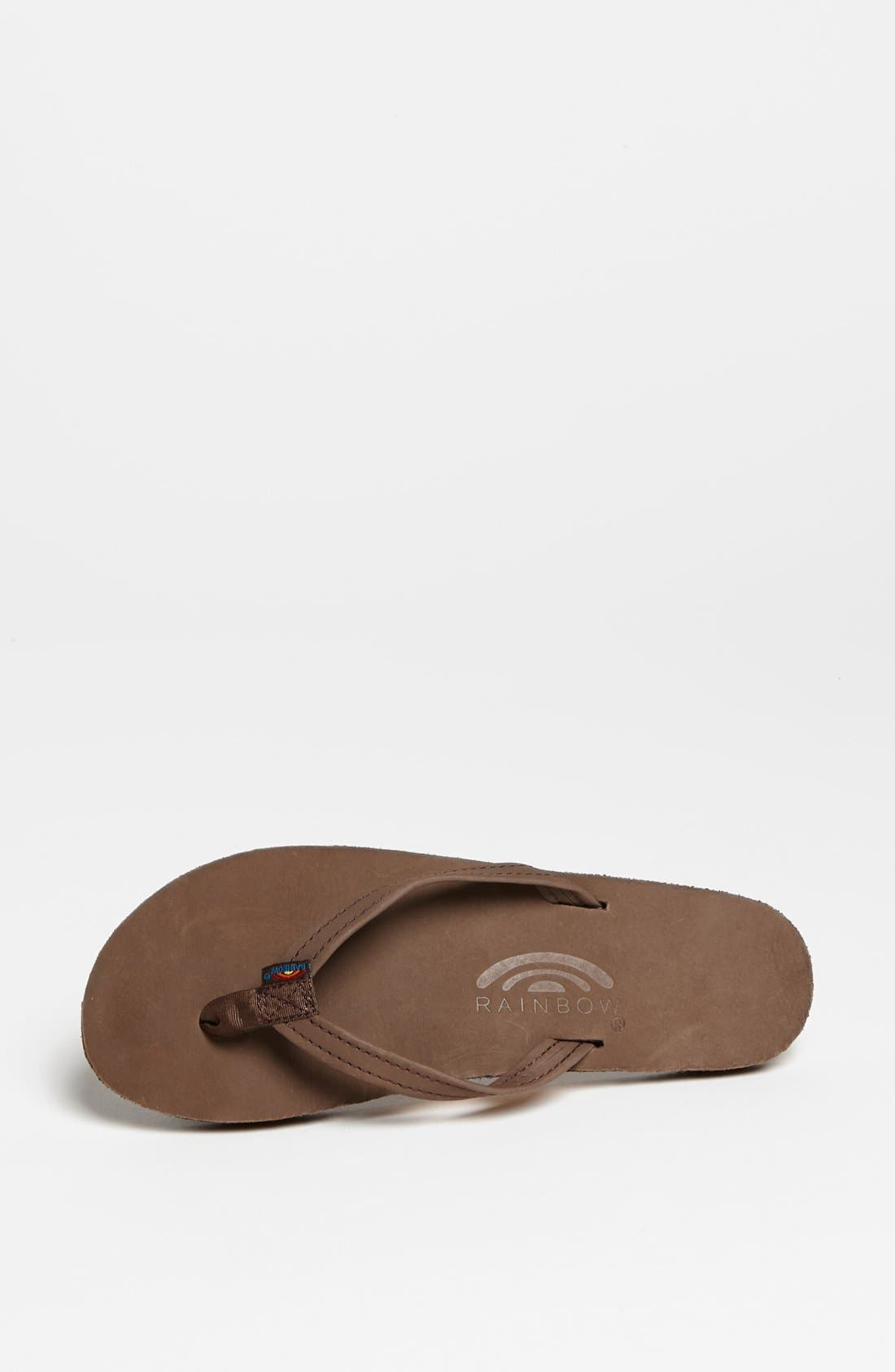 Narrow Strap Sandal,                             Alternate thumbnail 3, color,                             Expresso