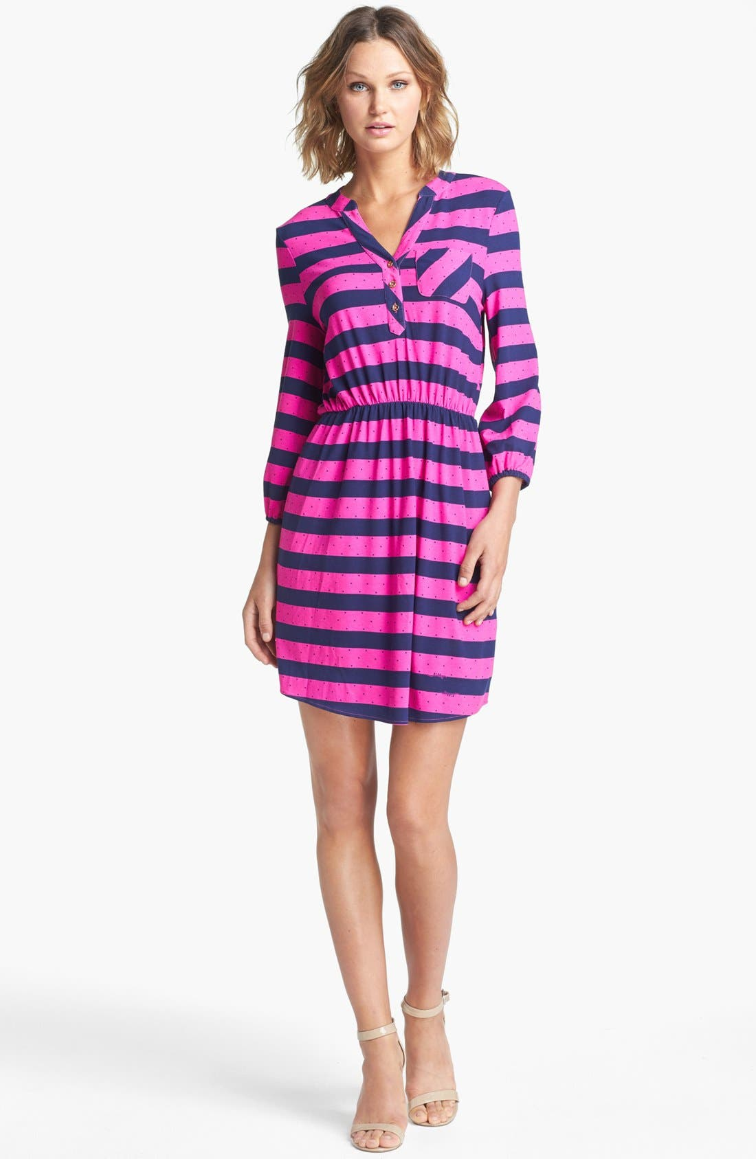 Alternate Image 1 Selected - Lilly Pulitzer® 'Beckett' Stripe Shirtdress