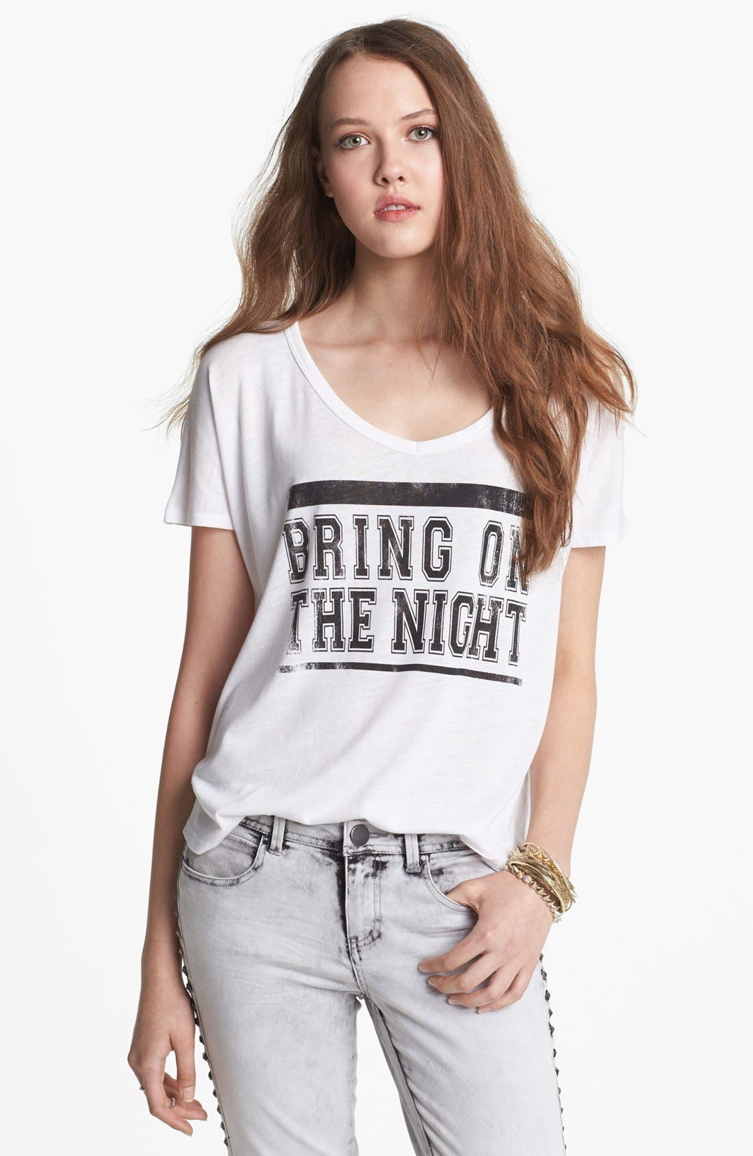 Alternate Image 1 Selected - Project Social T 'Bring On the Night' Graphic Tee (Juniors)