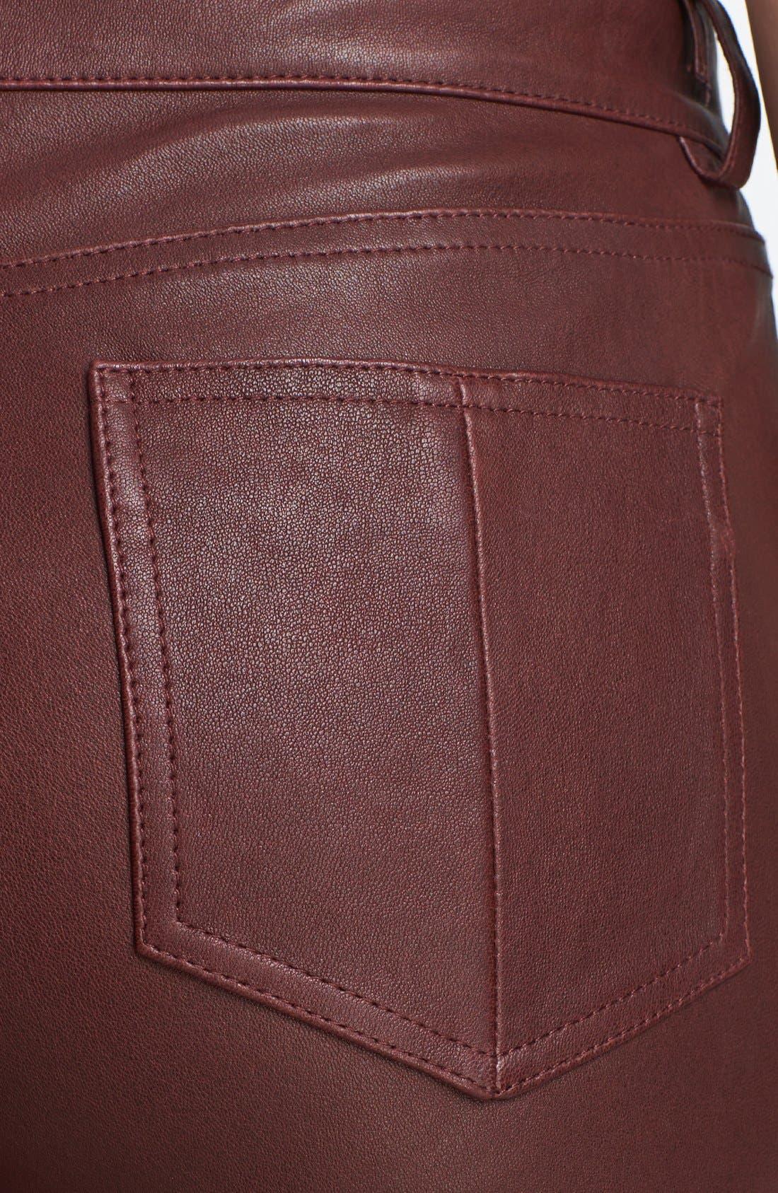 Alternate Image 4  - Haute Hippie Skinny Leather Pants