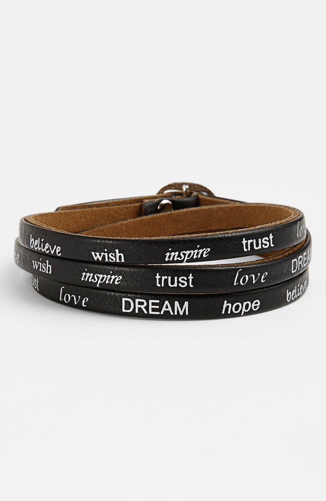 Main Image - Carole Word Wrap Bracelet