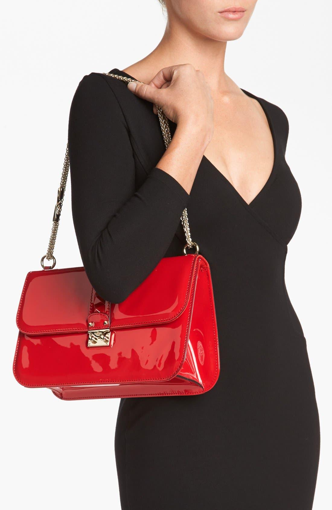 Alternate Image 2  - Valentino 'Punkouture - Lock' Leather Shoulder Bag