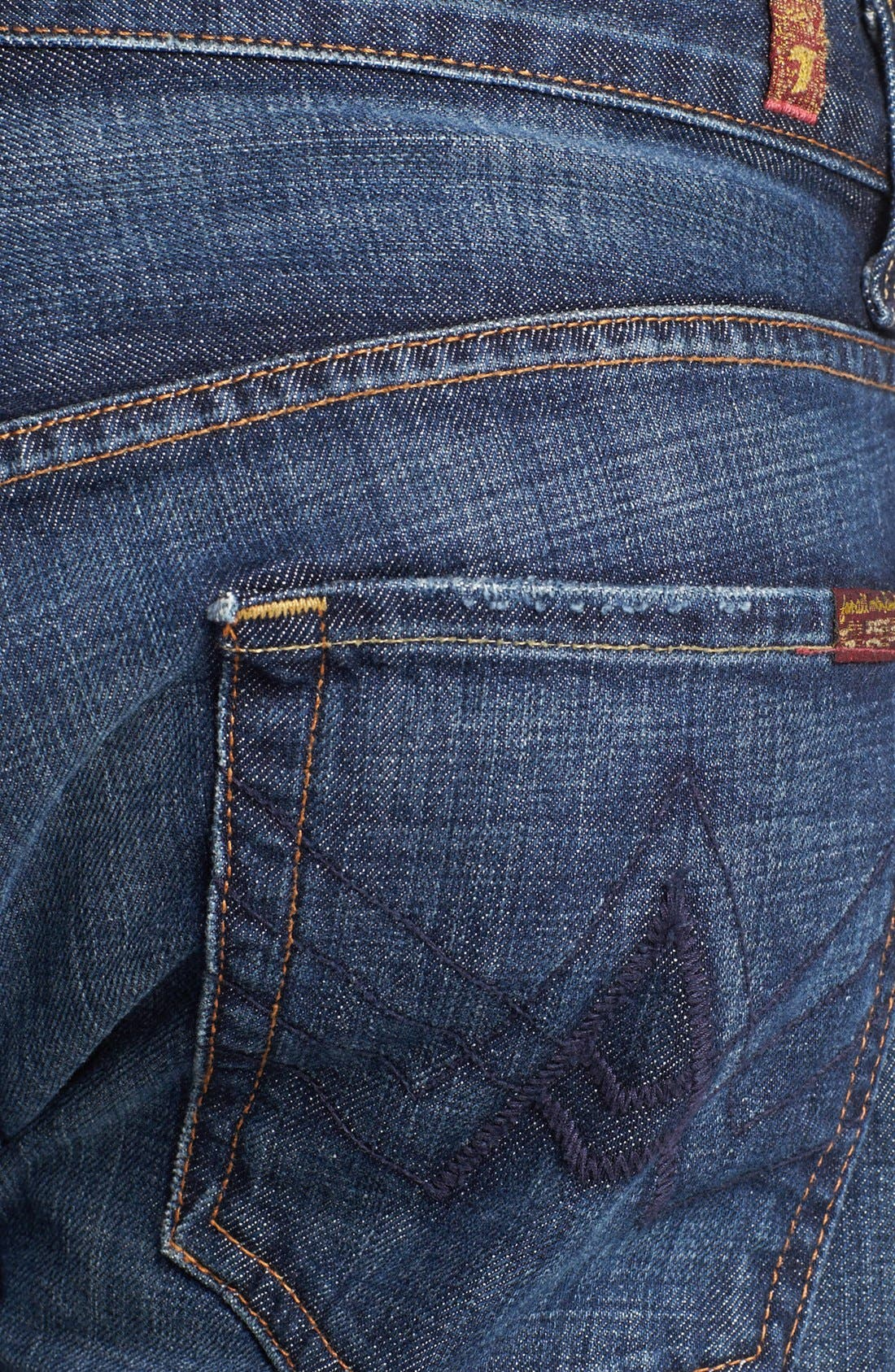 Alternate Image 4  - 7 For All Mankind® Brett Bootcut Jeans (New York Dark)