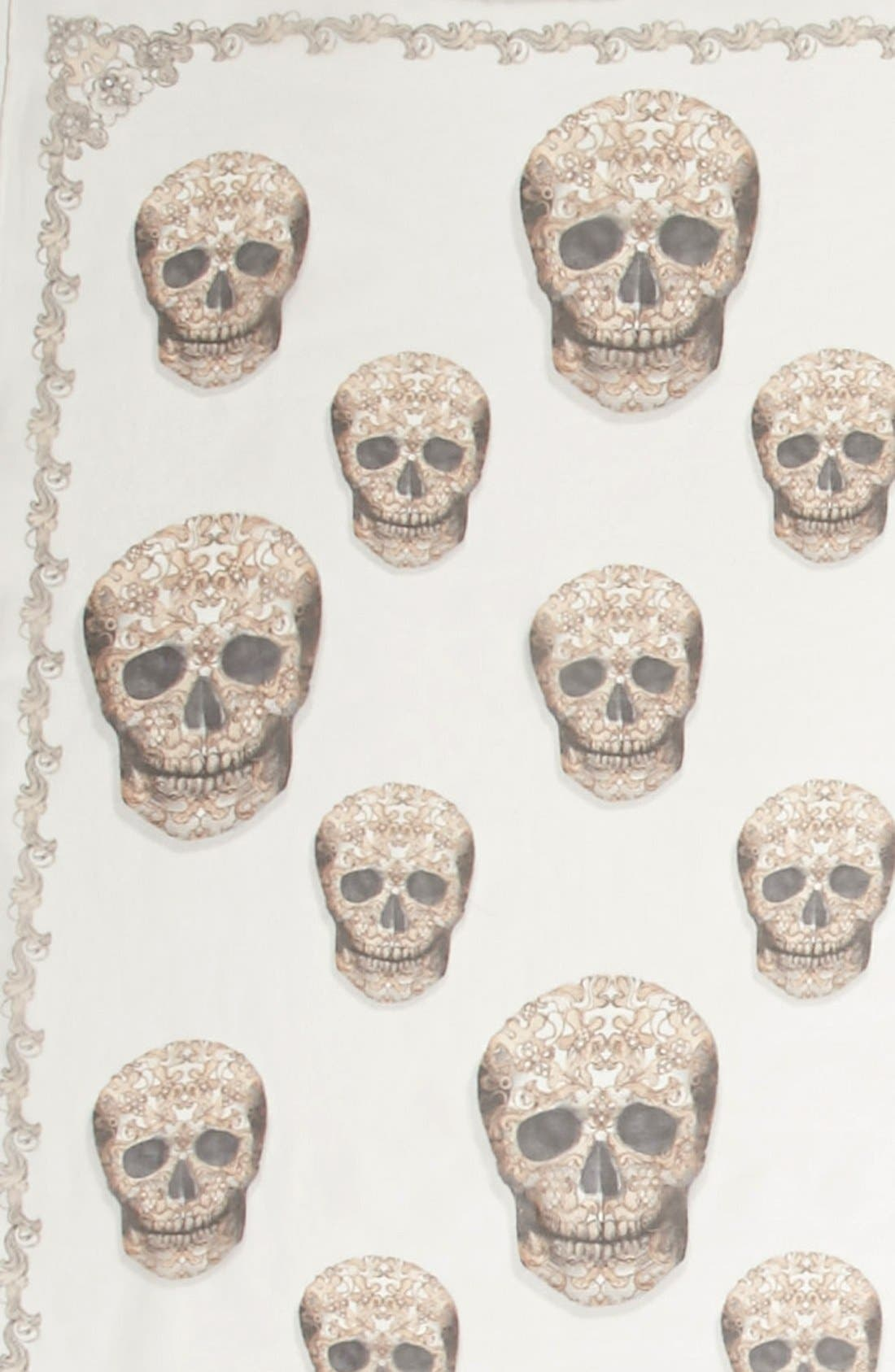 Alternate Image 3  - Alexander McQueen 'Lacy Skull' Scarf