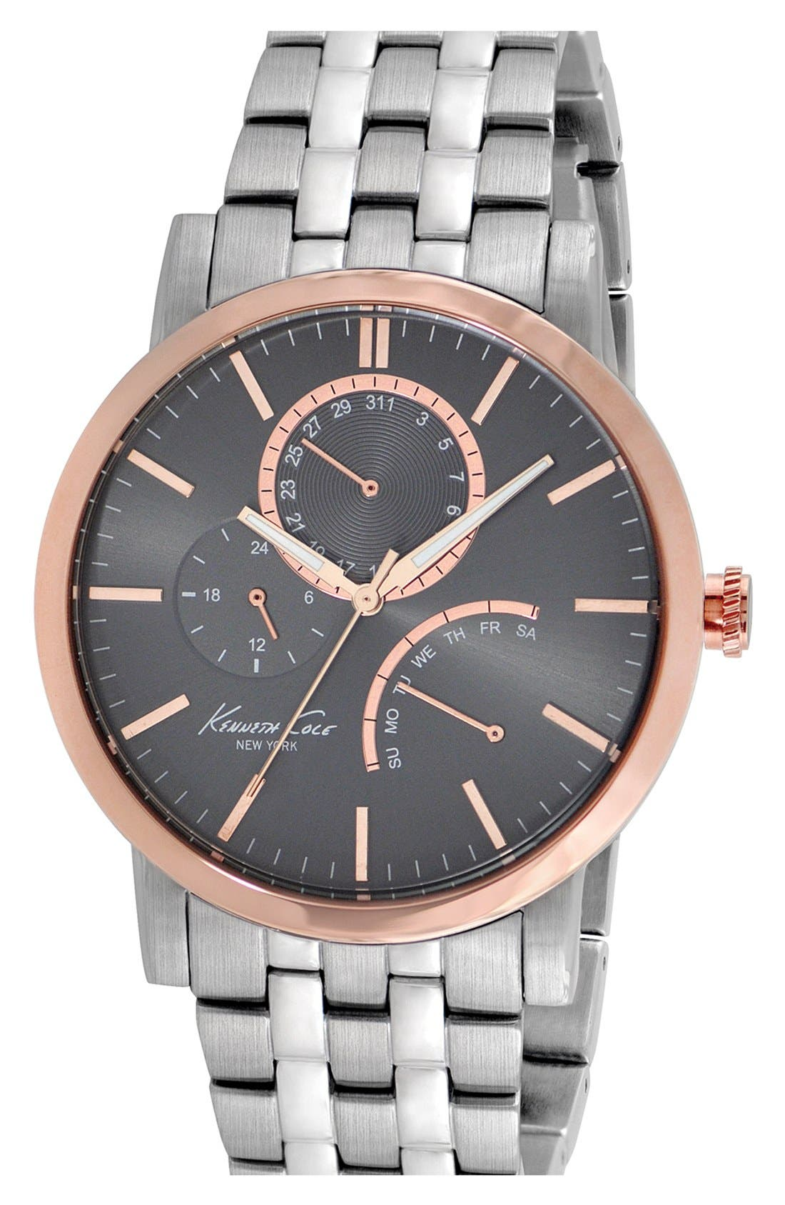 Alternate Image 1 Selected - Kenneth Cole New York Round Bracelet Watch, 44mm