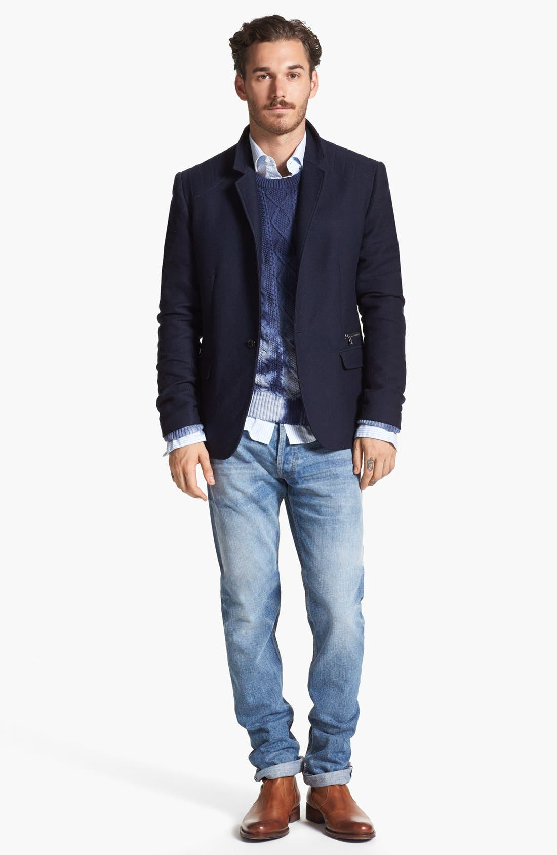 Alternate Image 4  - Edun Moto Stitch Sportcoat